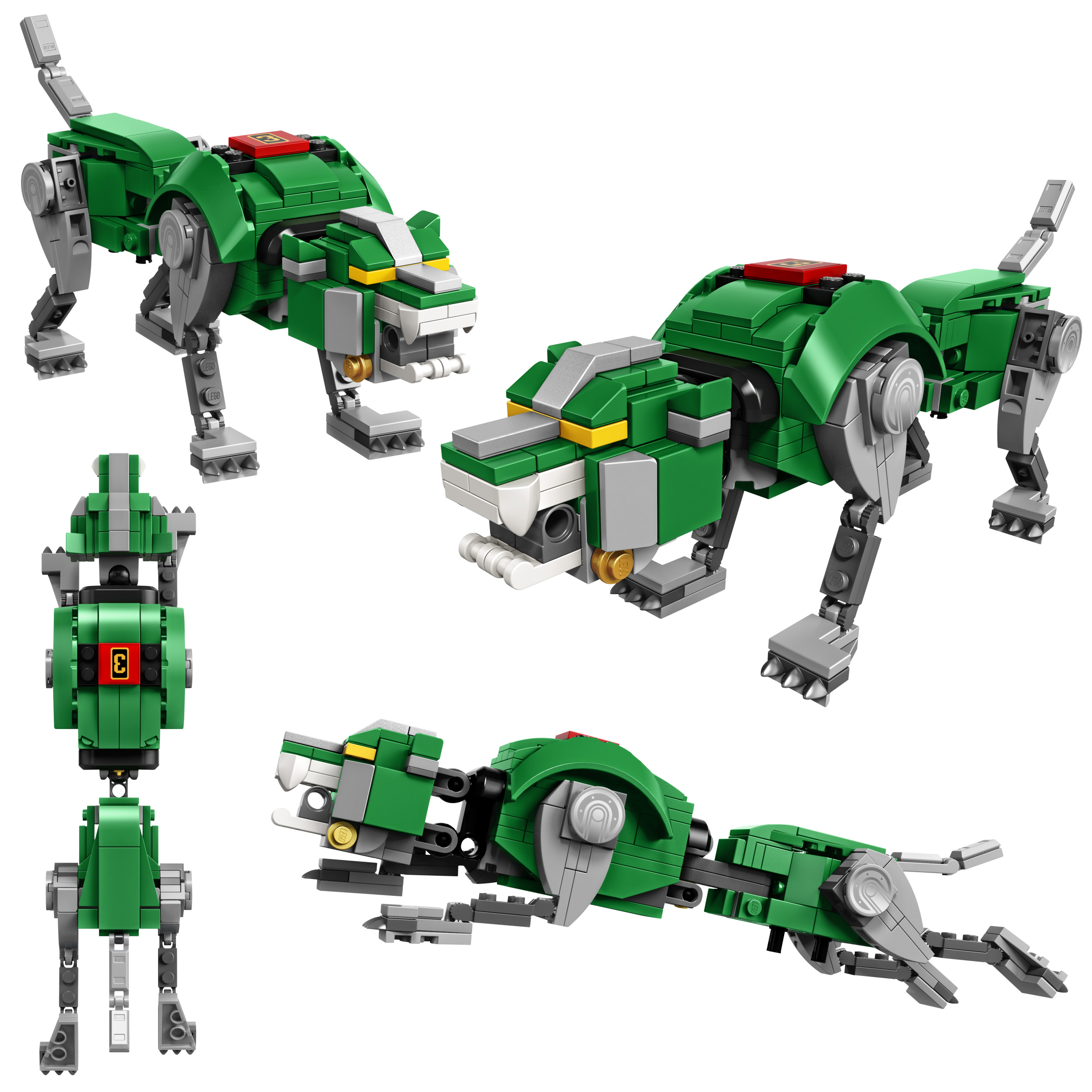The Green Lion is the left arm of the giant robot.