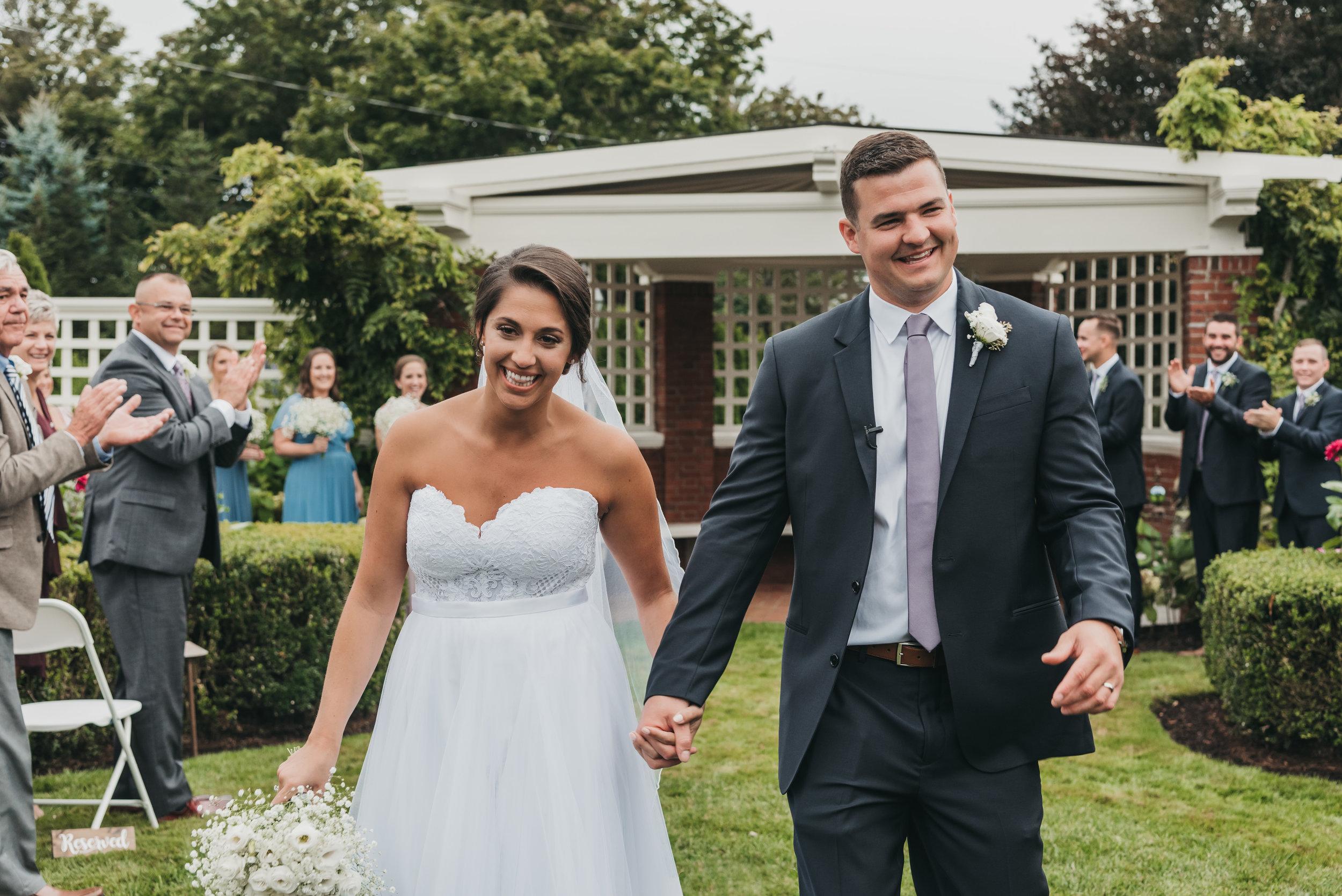 New Hampshire beachside wedding
