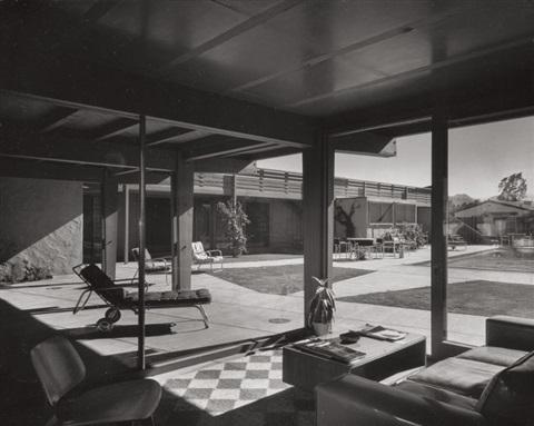 JULIUS SHULMAN- Afternoon shadows, Del Marcos Hotel, Palm Springs, by architect William F. Cody, ca. 1950-1959 (image and caption via artnet.com)
