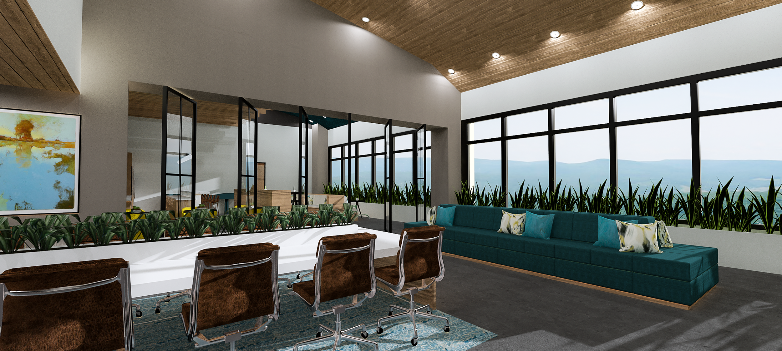 California Office | Designed by  Antoinette Designs | Rendered by Kelly Fridline Design using Chief Architect X10