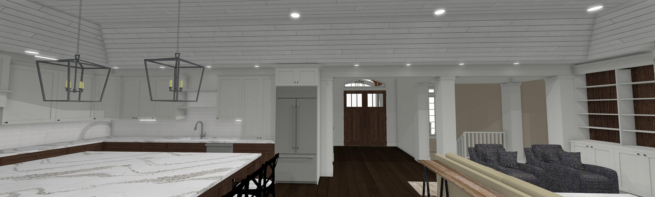 Updated Kitchen/Living Room Design