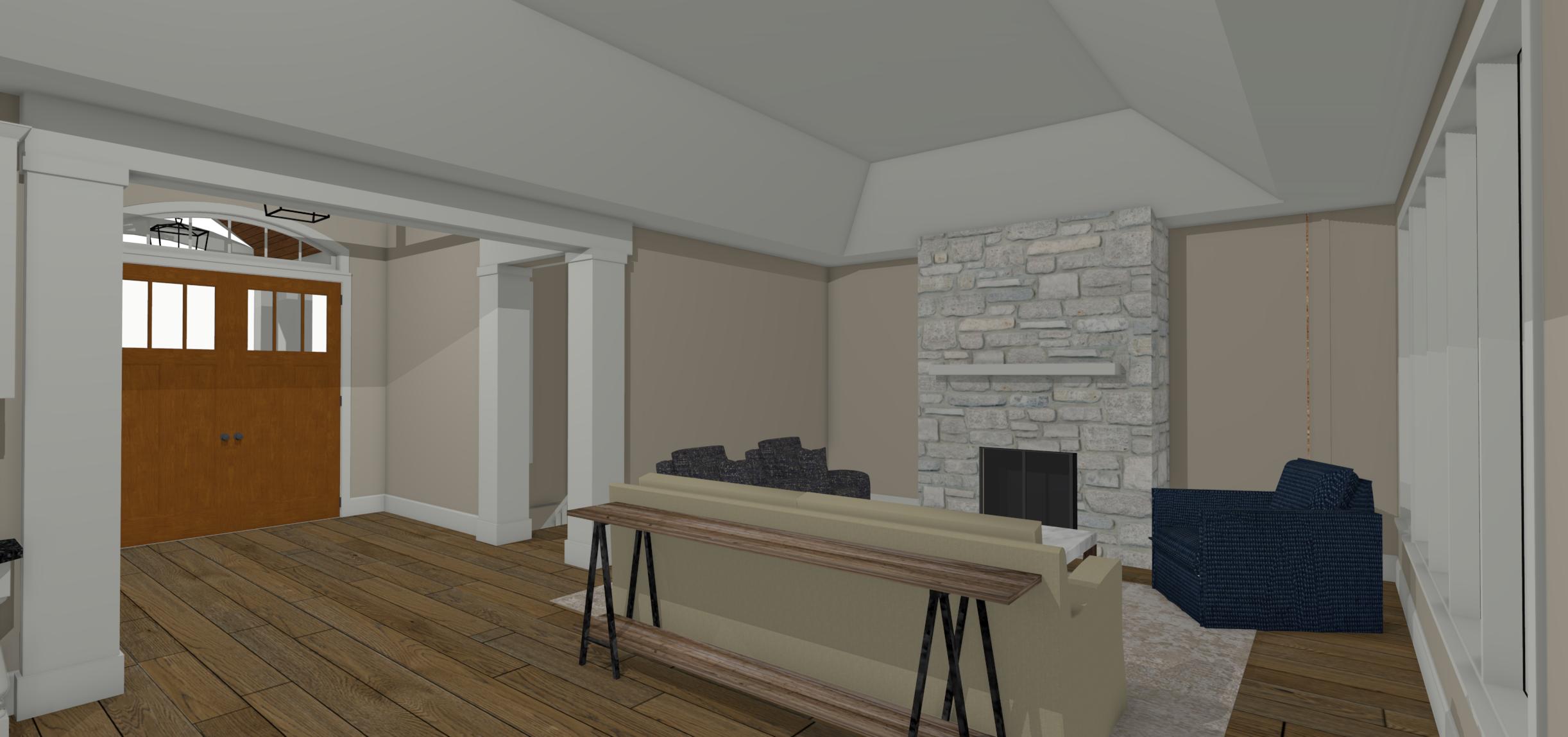 Existing Plan Living Room Design