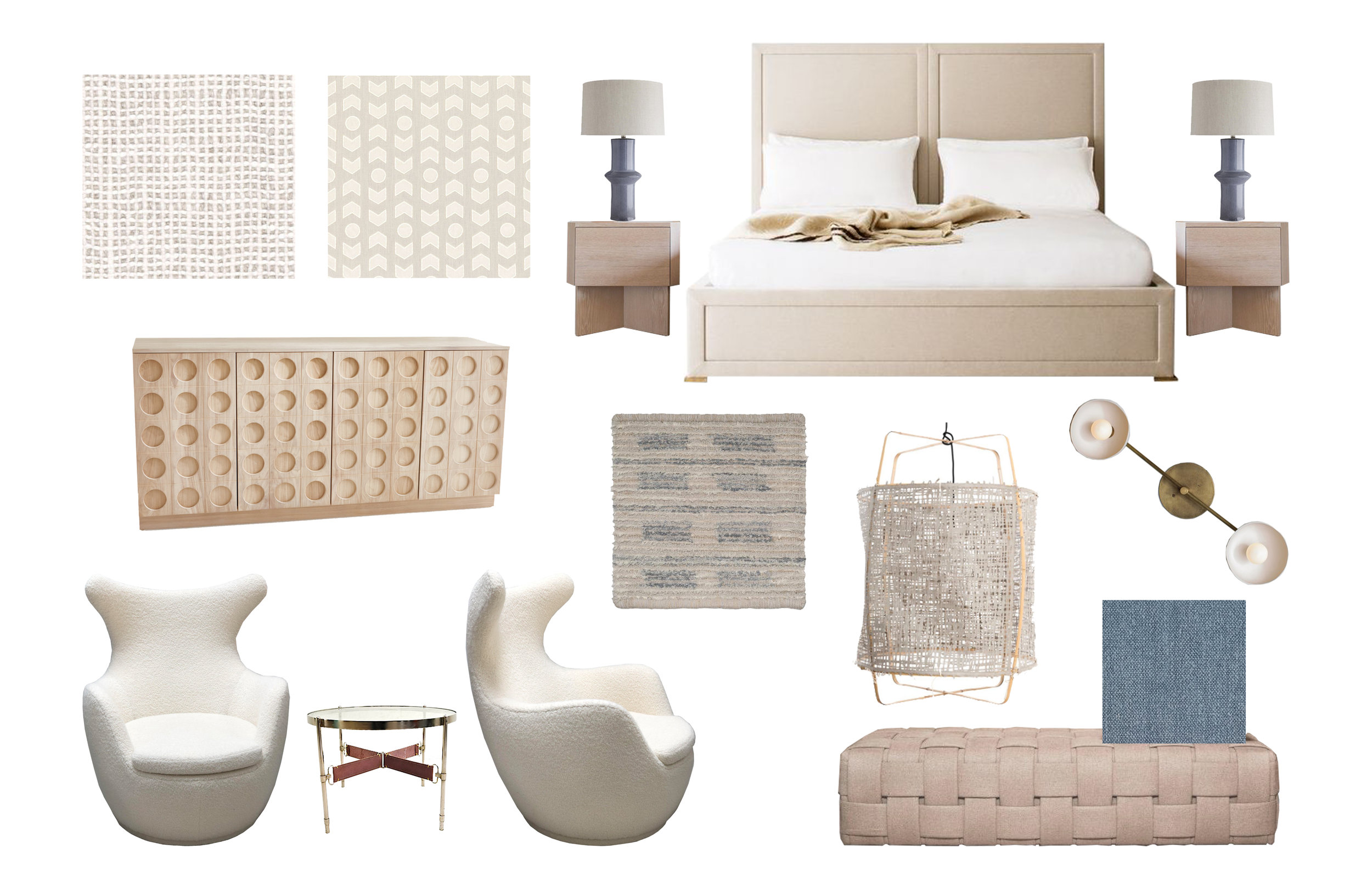 Master Bedroom Concept Board | Designed and Provided by: Anne Carr Designs