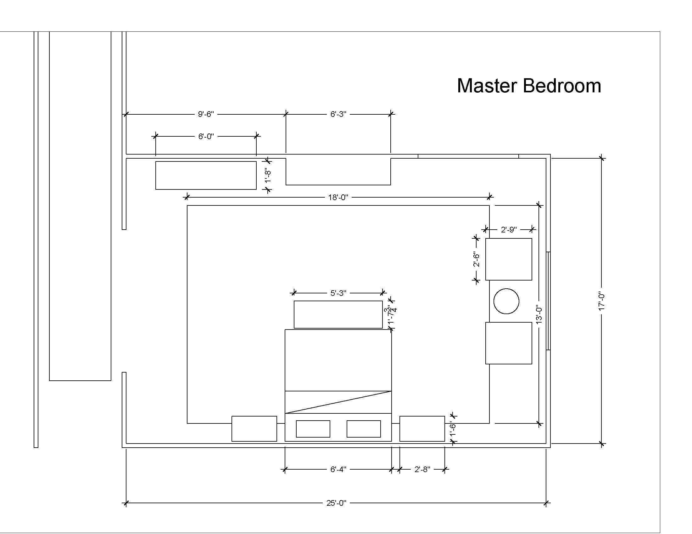 Master Bedroom Dimesions | Designed and Provided by: Anne Carr Designs