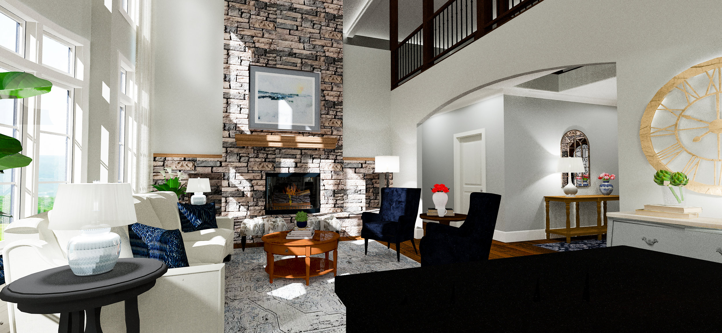 Living Room Rendering with Fireplace | Designed by Karen Grant Interiors.jpg