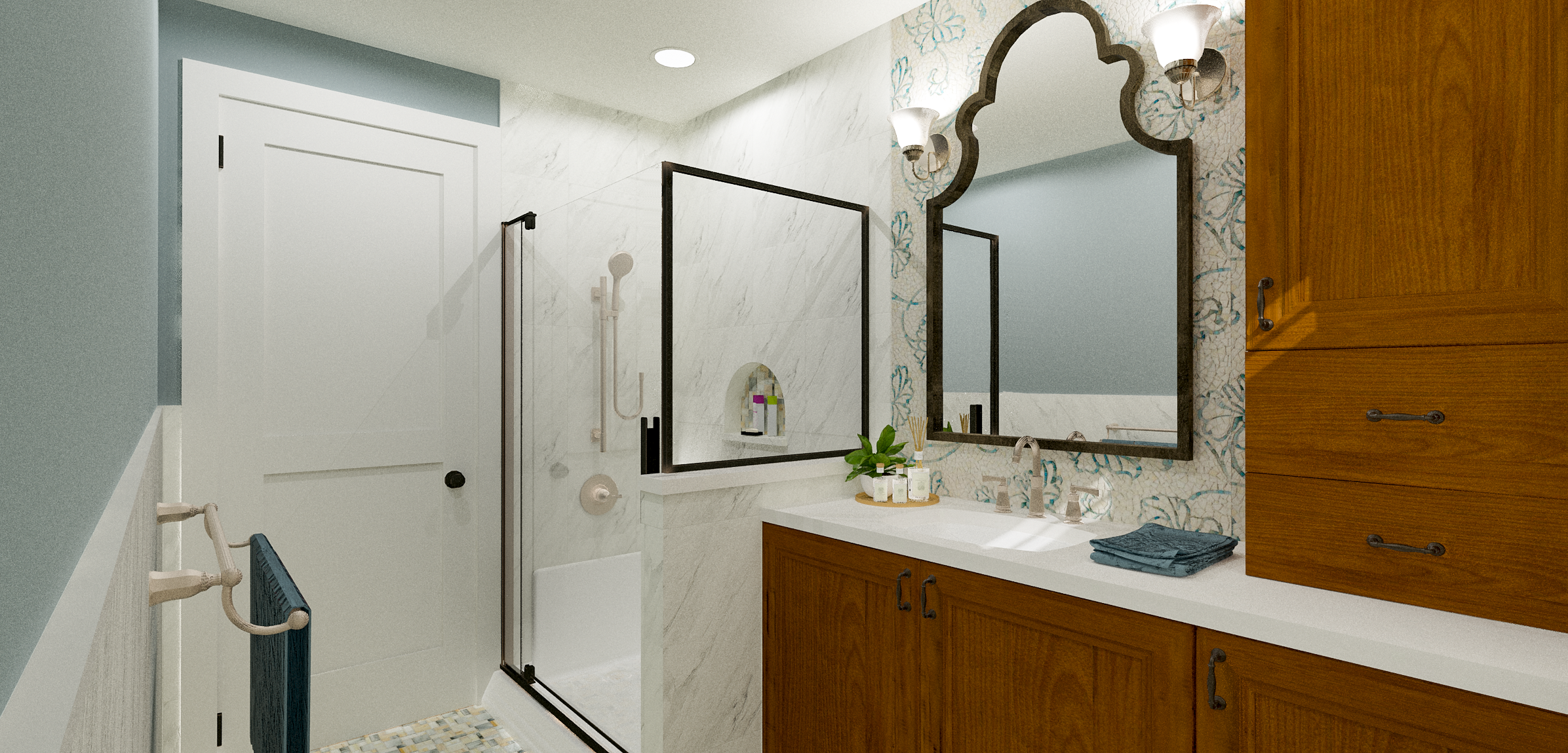 Age In Place Bathroom Design | Designed by Susan Rains Design.png