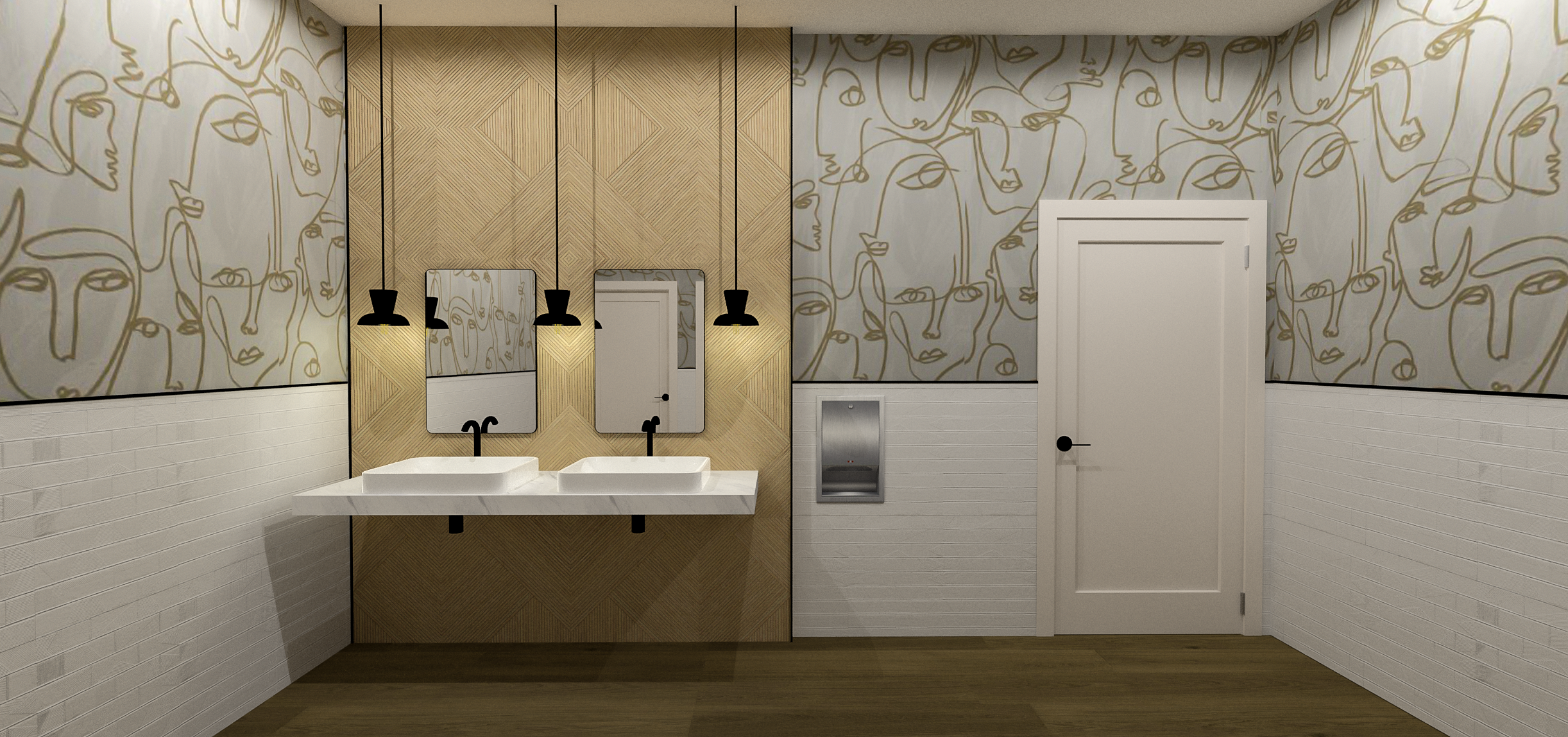 Sola Salons Contemporary Bathroom 2 | Designed by Bell + Voy Design Co..png