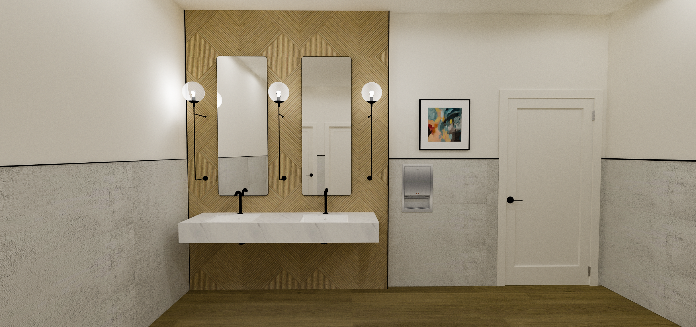 Sola Salons Contemporary Bathroom Concept | Designed by Bell + Voy Design Co..png