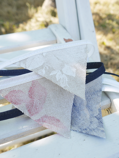 Beautiful bunting - I can't think of an occasion that doesn't call for bunting and a picnic is certainly no exception! This shabby chic mini bunting with loops at each end make for instant and easy decorating. It comes in a choice of 3 colours and made-to-order lengths to suit you home or special celebration. Hang it from tree branches or drape it over your picnic basket for that party feel and finishing touch.