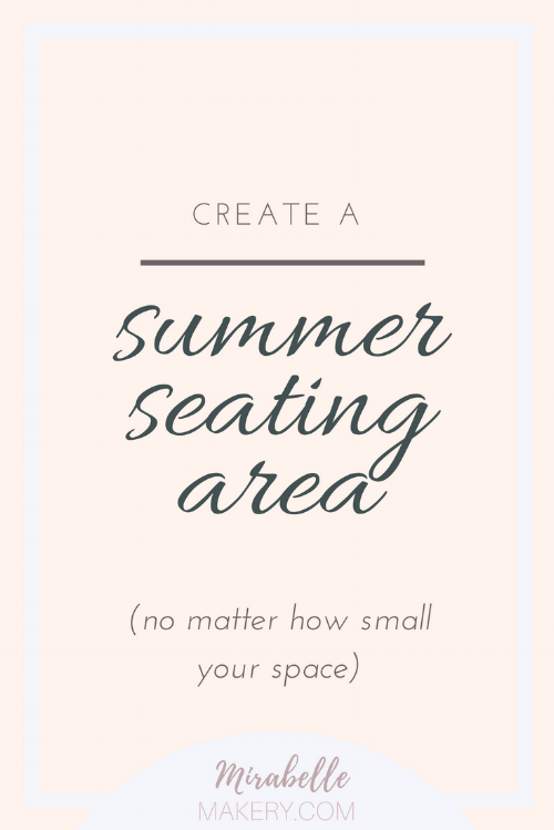 how to make an outdoor seating area
