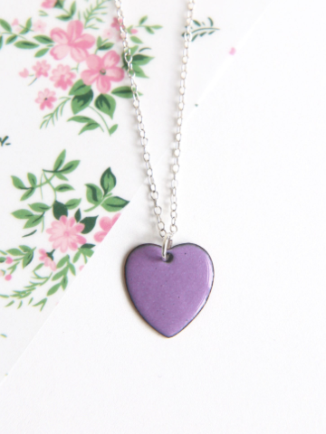Lavender necklace - As ultra-violet is the official Pantone colour of 2018 I had to include this gorgeously glossy enamel necklace from I Am Rachel. Each unique piece of jewellery that Rachel creates from scratch in her Somerset workshop is ideal for everyday use and this fun heart pendant teamed with a classic silver chain is no exception. It'll brighten up any outfit and you can even have a custom piece made to whatever shape, size or colour your heart desires.