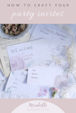 Tea party homemade invites free printable