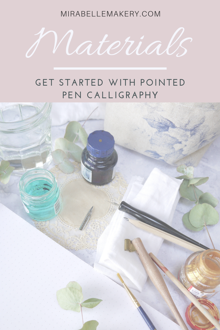 Essentials materials you need to get started with dip pen modern calligraphy at home