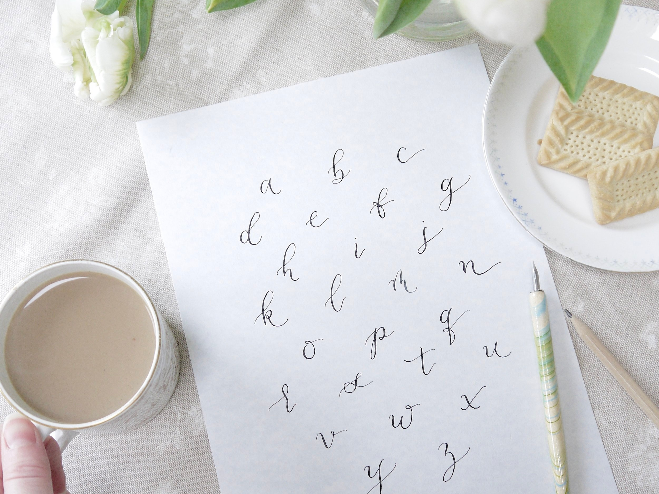 Practicing calligraphy can have calming and therapeutic benefits