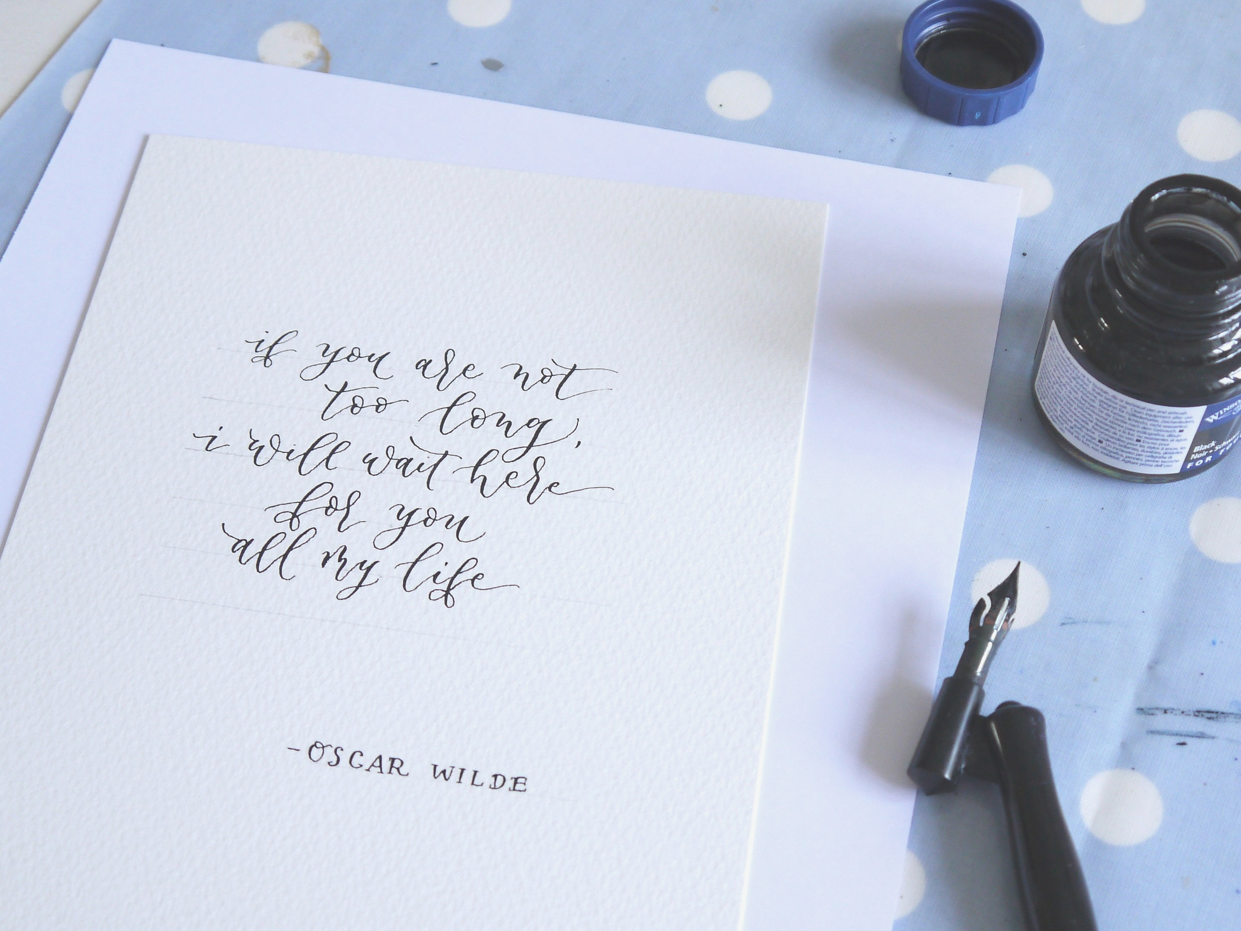 oscar wilde calligraphy quote