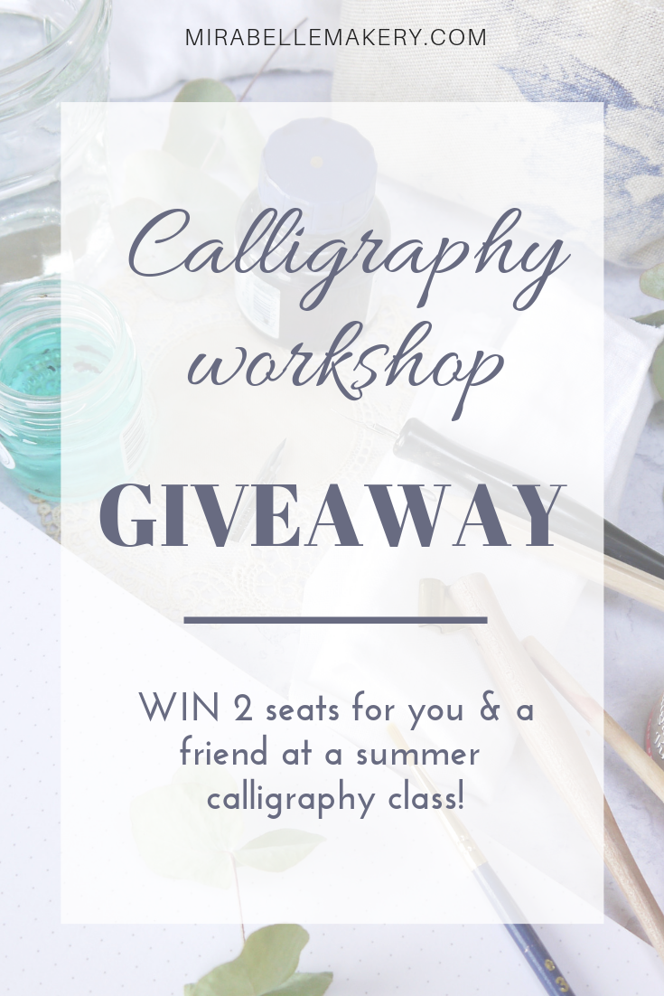 Modern calligraphy class for adults in the South West of England Summer 2019