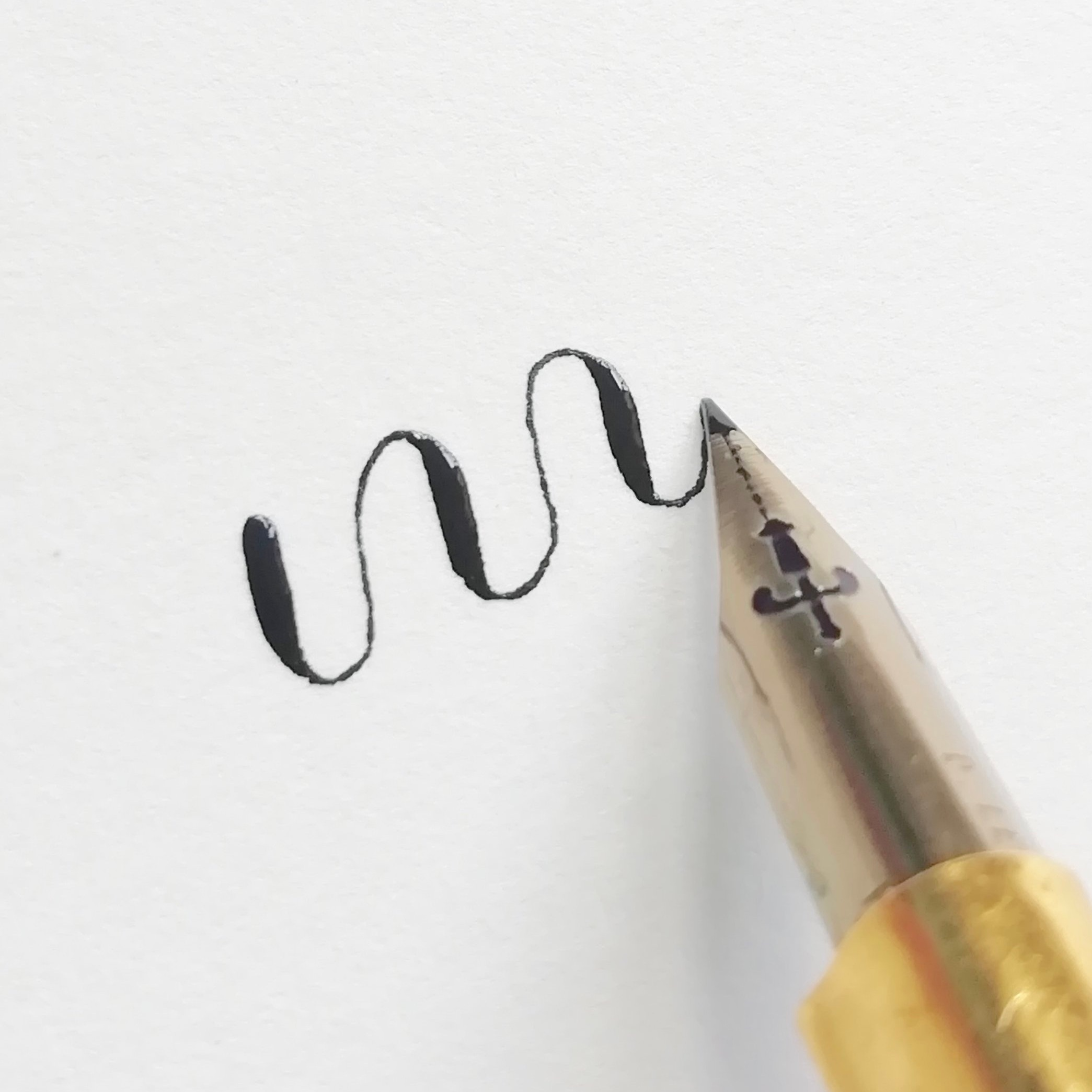 Using a pointed pen for modern calligraphy