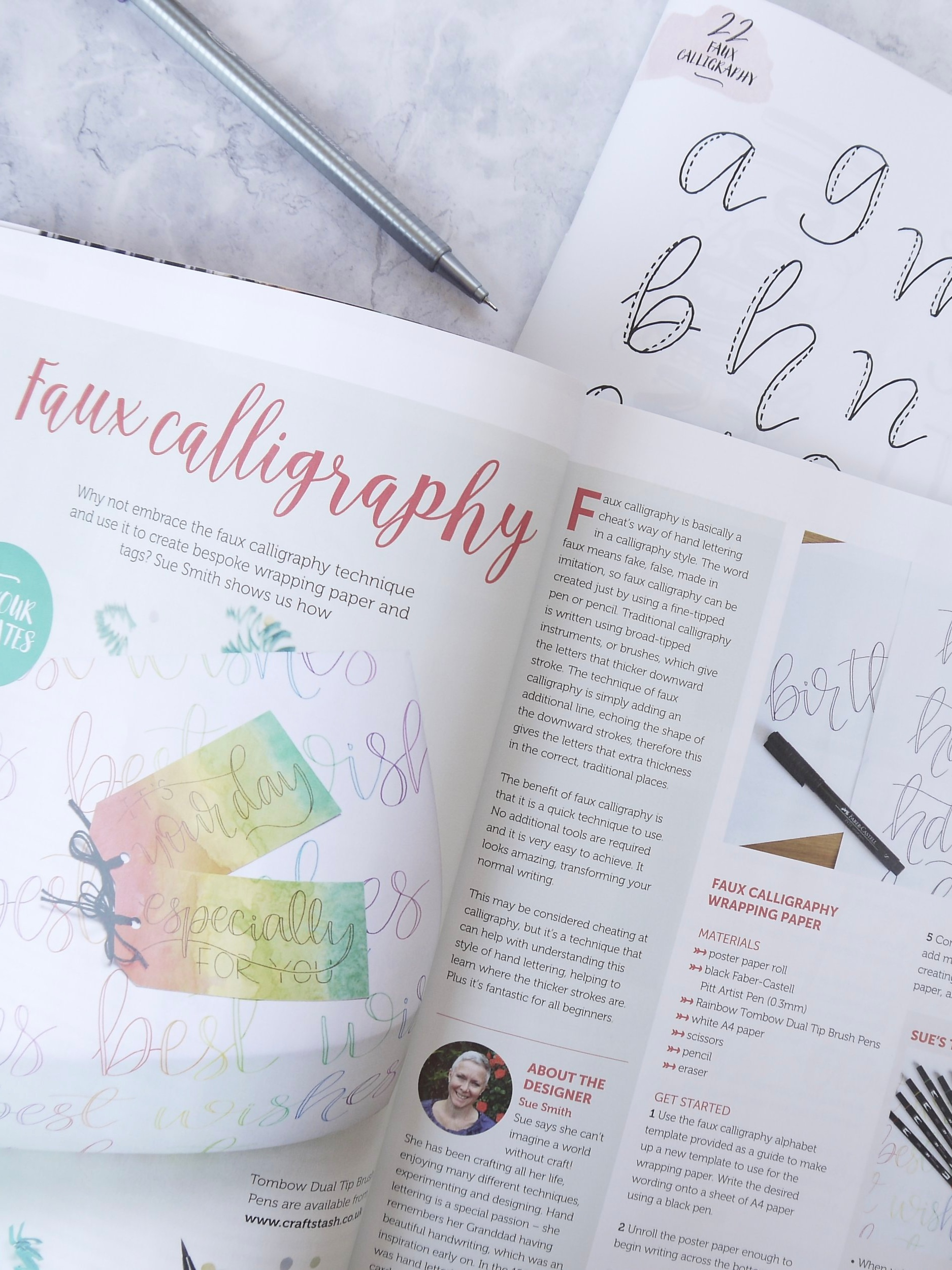 Beginner calligraphy tutorial for beginners with a free printable