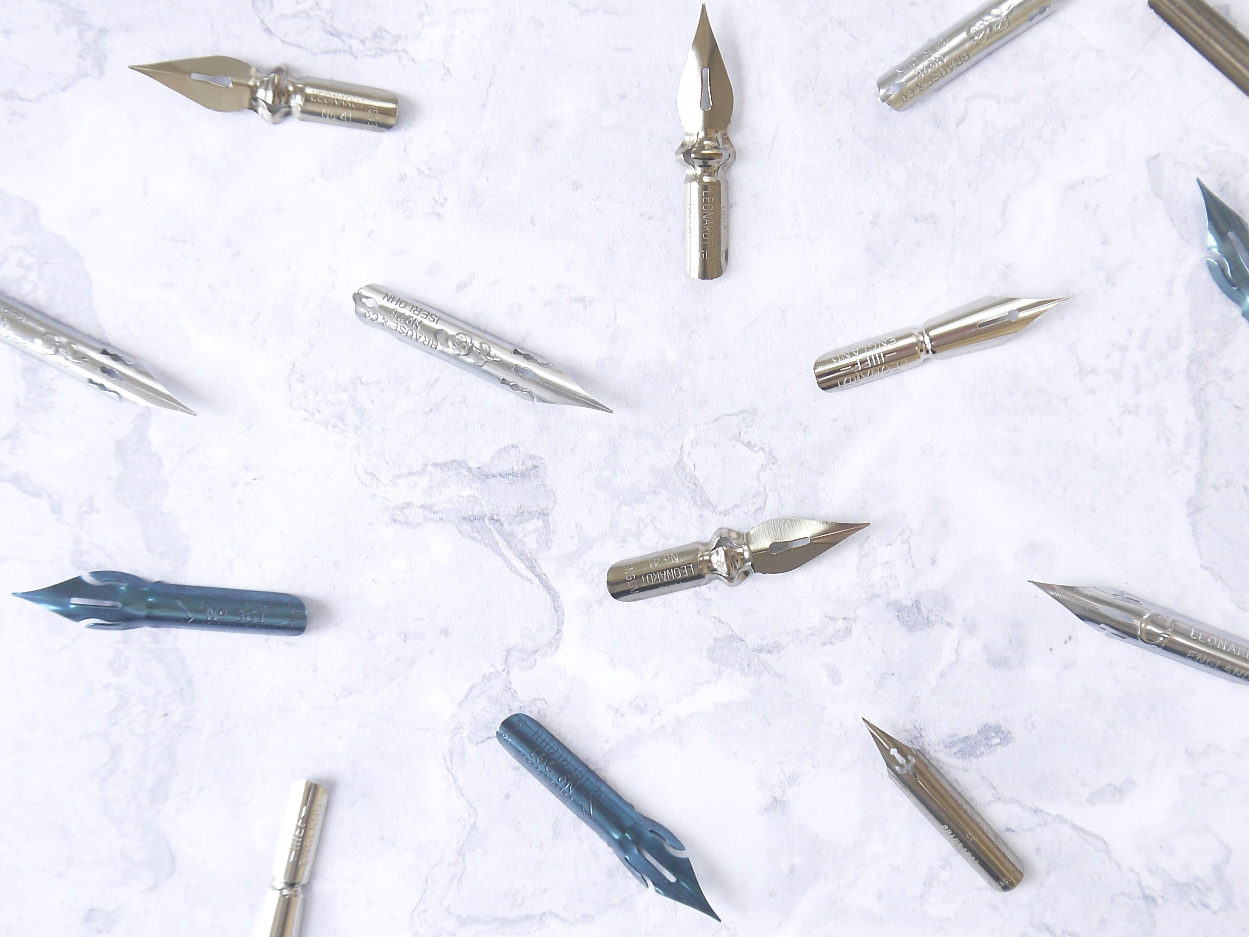 Modern calligraphy nibs will need to be cleaned before using to write with