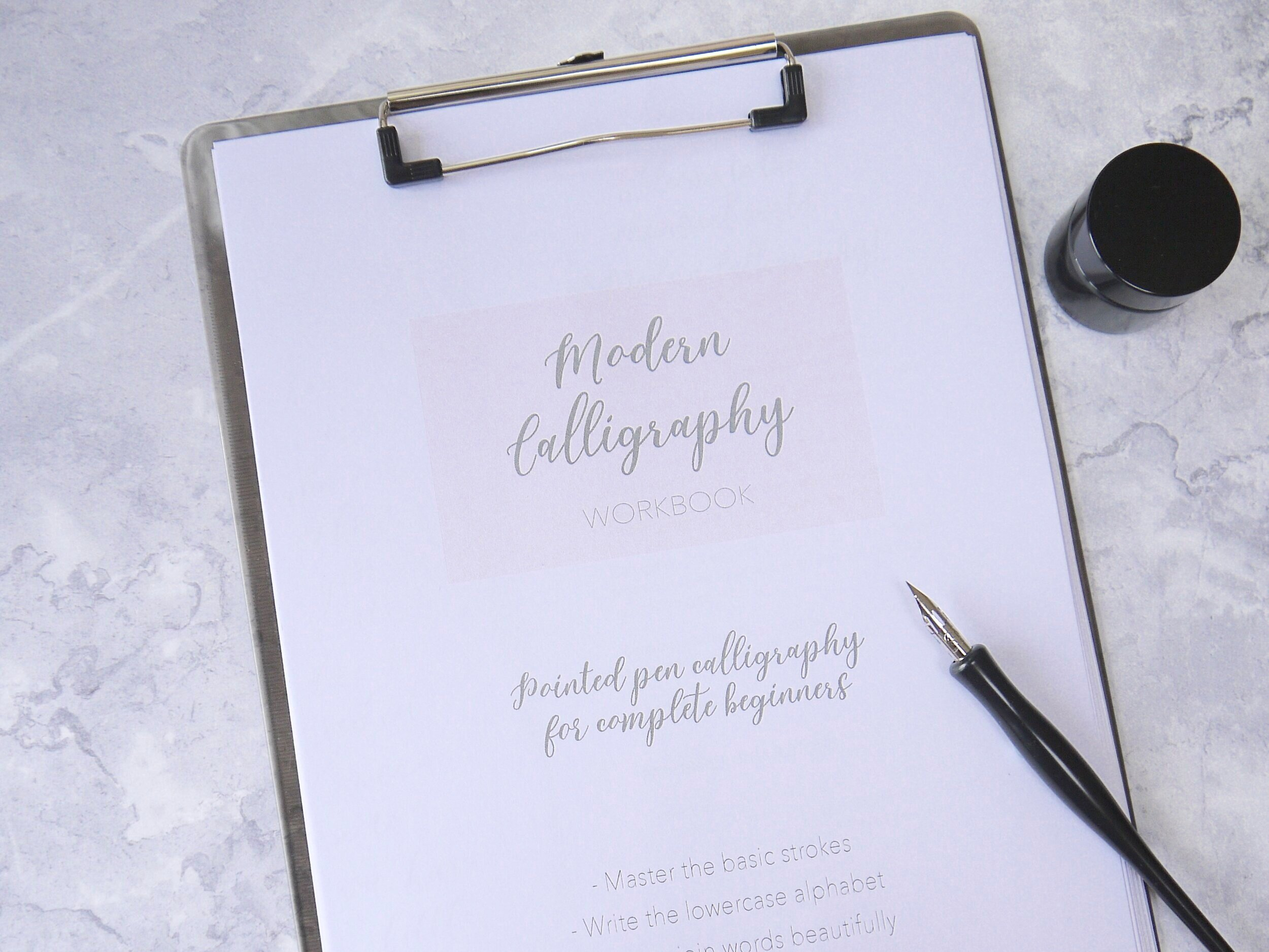 Learn How To Write The Modern Calligraphy Alphabet — Mirabelle Makery