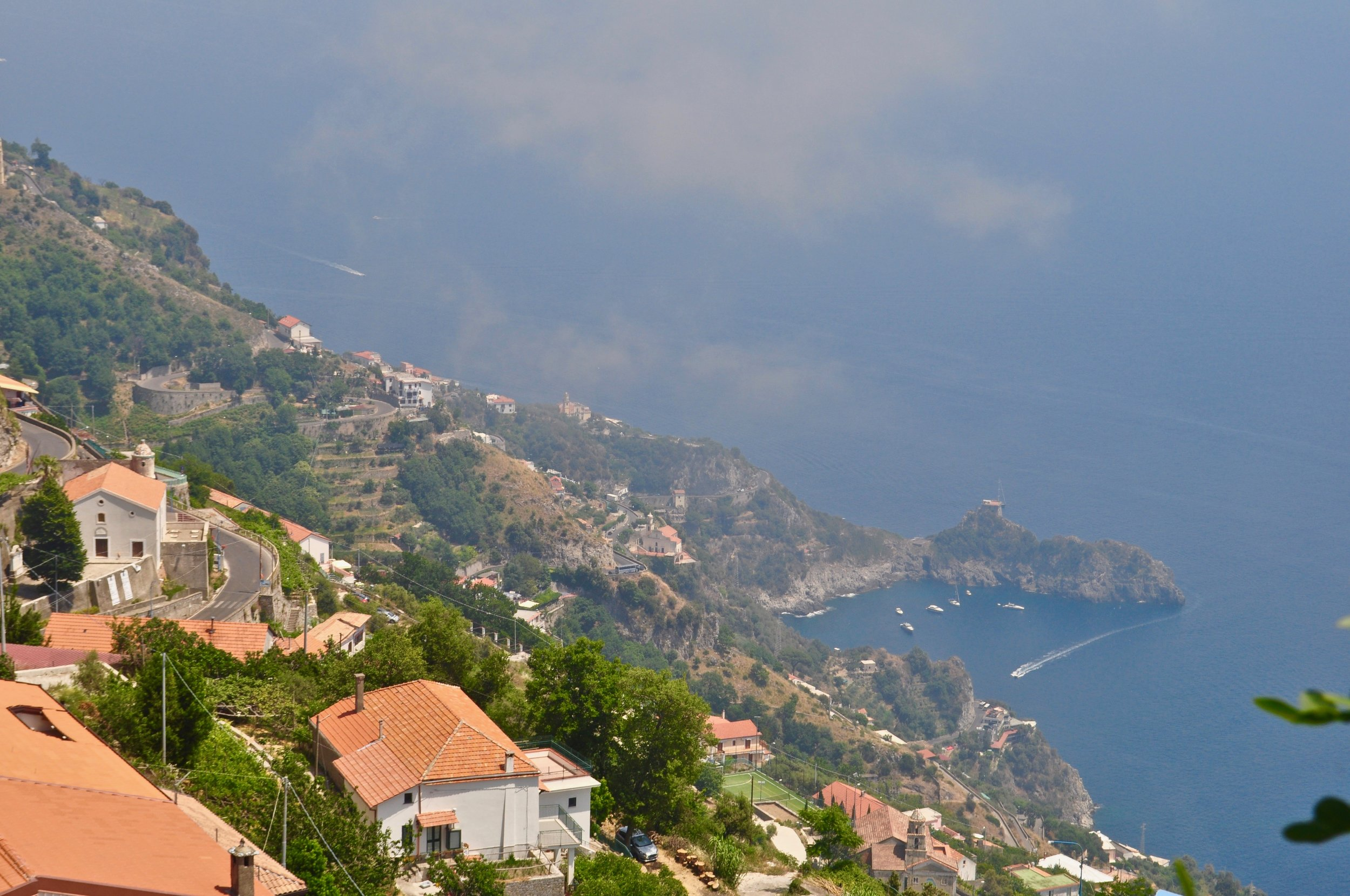 Our first view of the Amalfi Coast