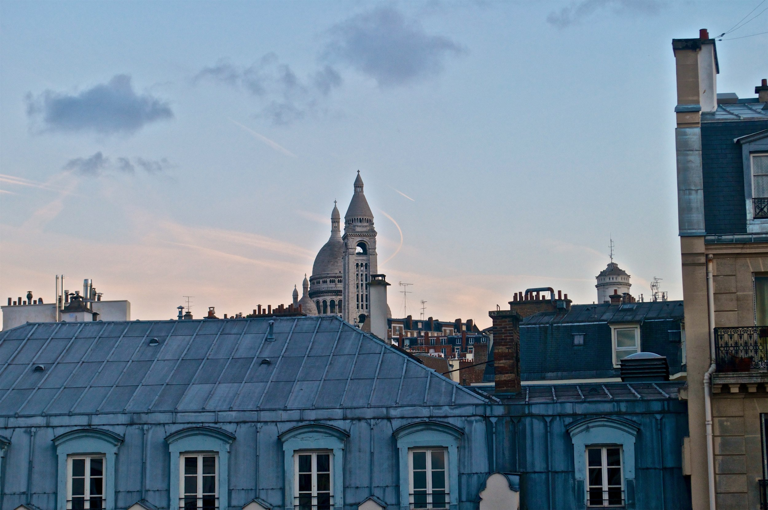 The View of Sacre Coeur and Montmartre from our Airbnb