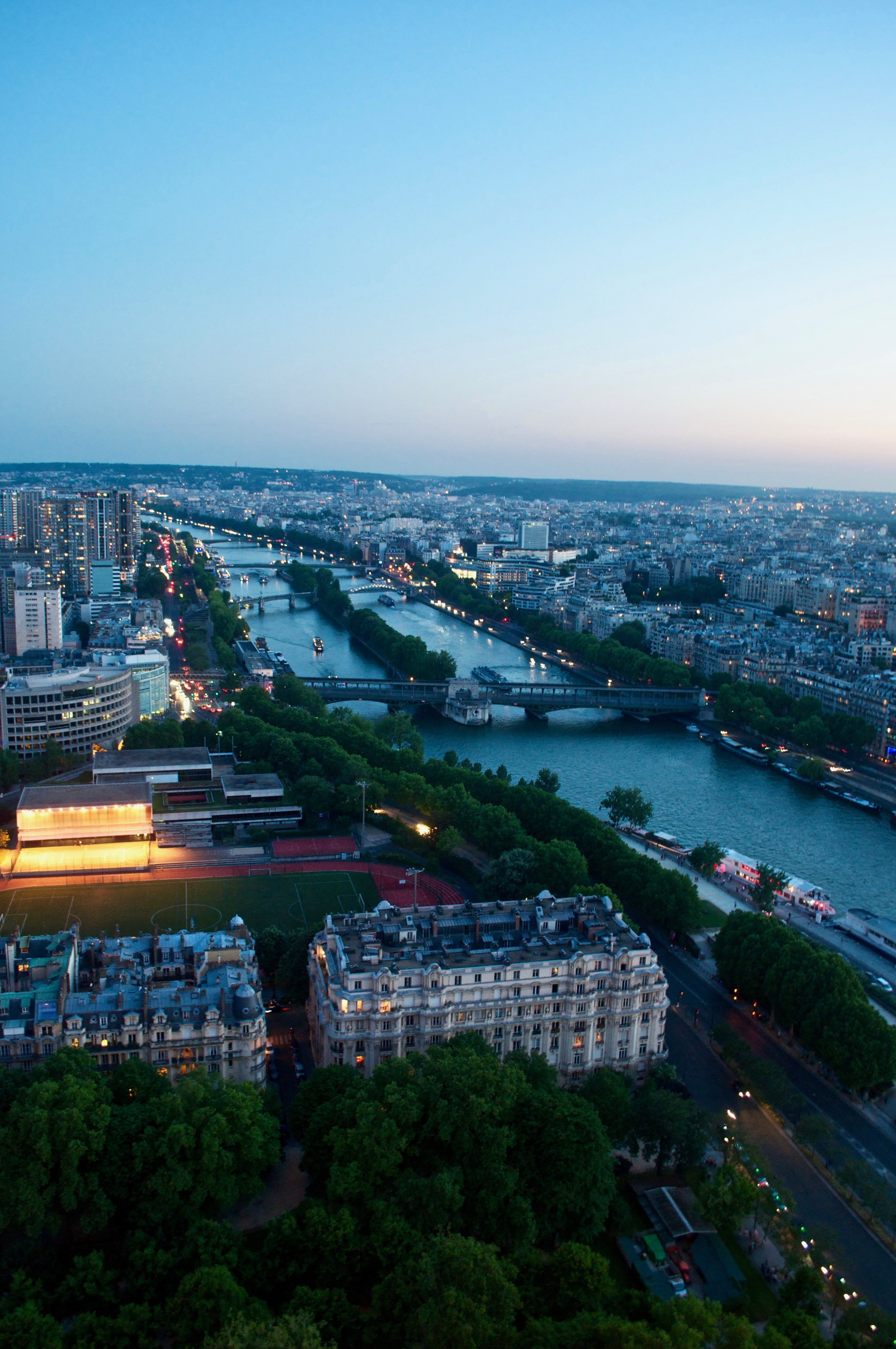 View from the Eiffel Tower, Paris, France - The Ultimate Northern France Itinerary