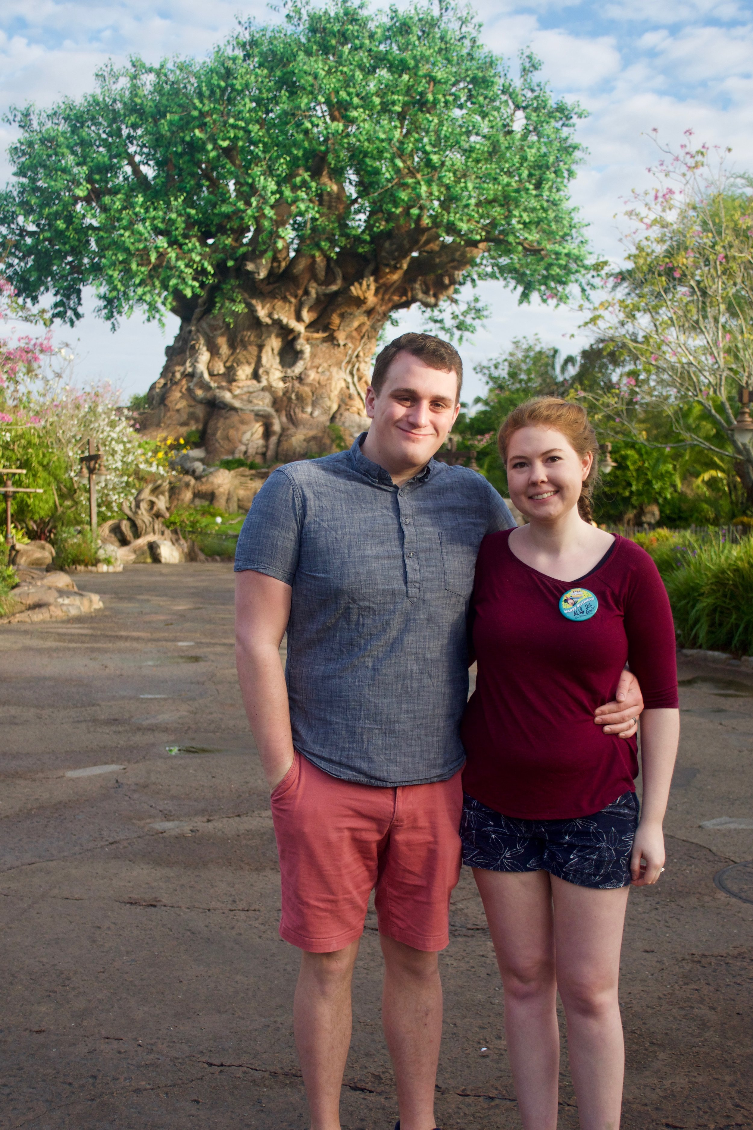 Couple in front of Animal Kingdom's Tree of Life - How to Make the Most of Disney Theme Parks as an Adult