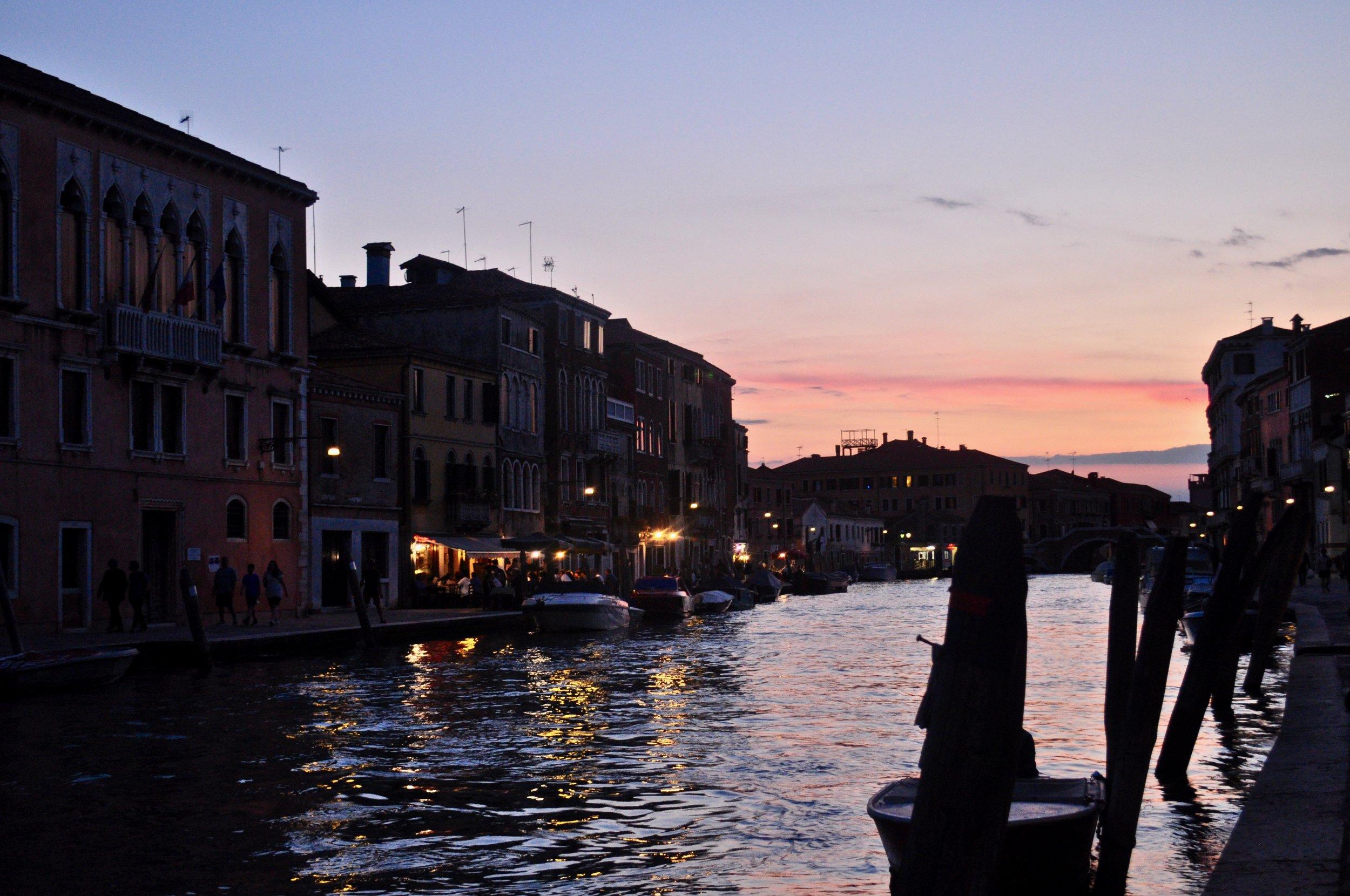 Nighttime in Venice