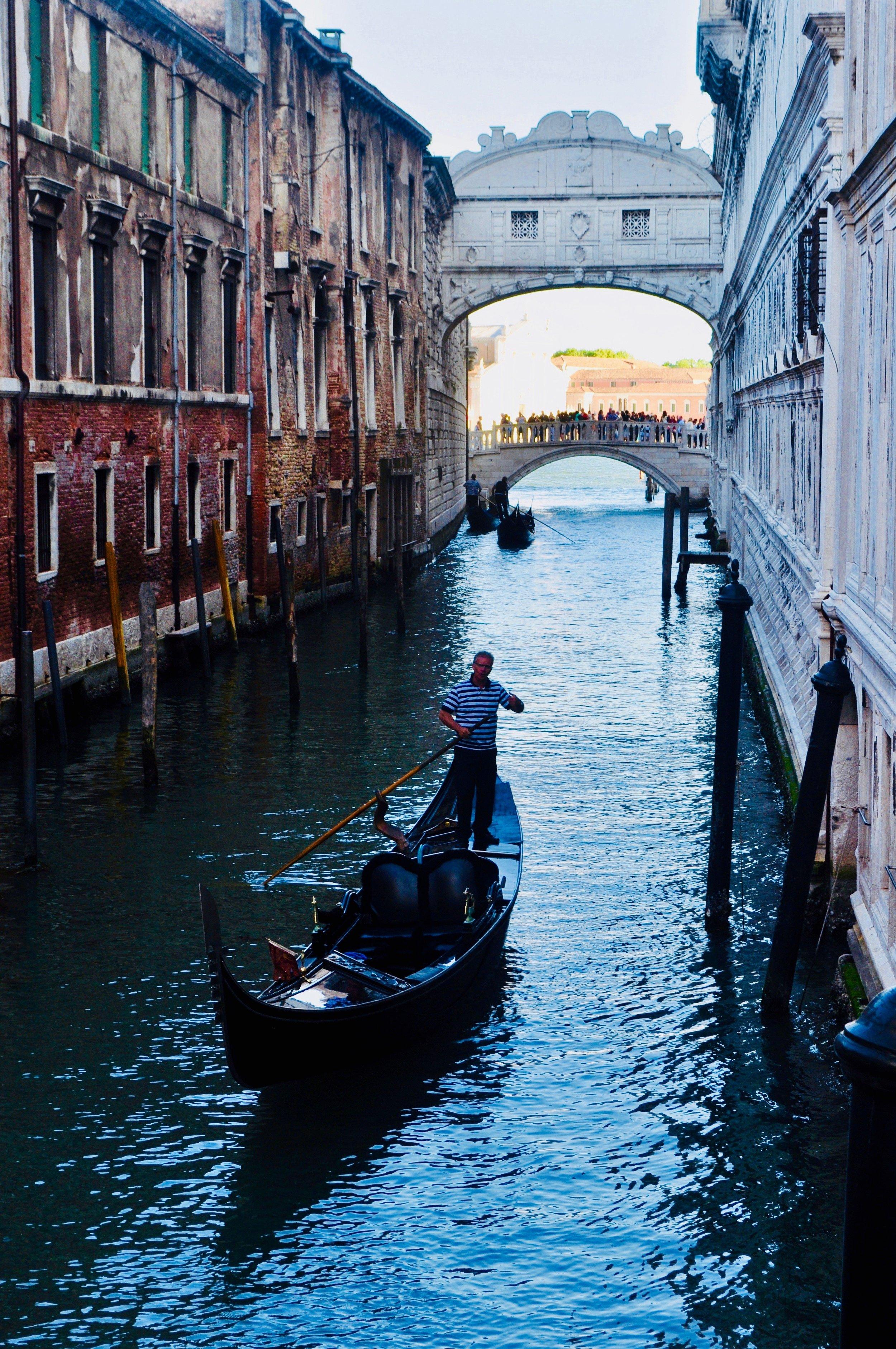 Gondola Ride under the Bridge of Sighs