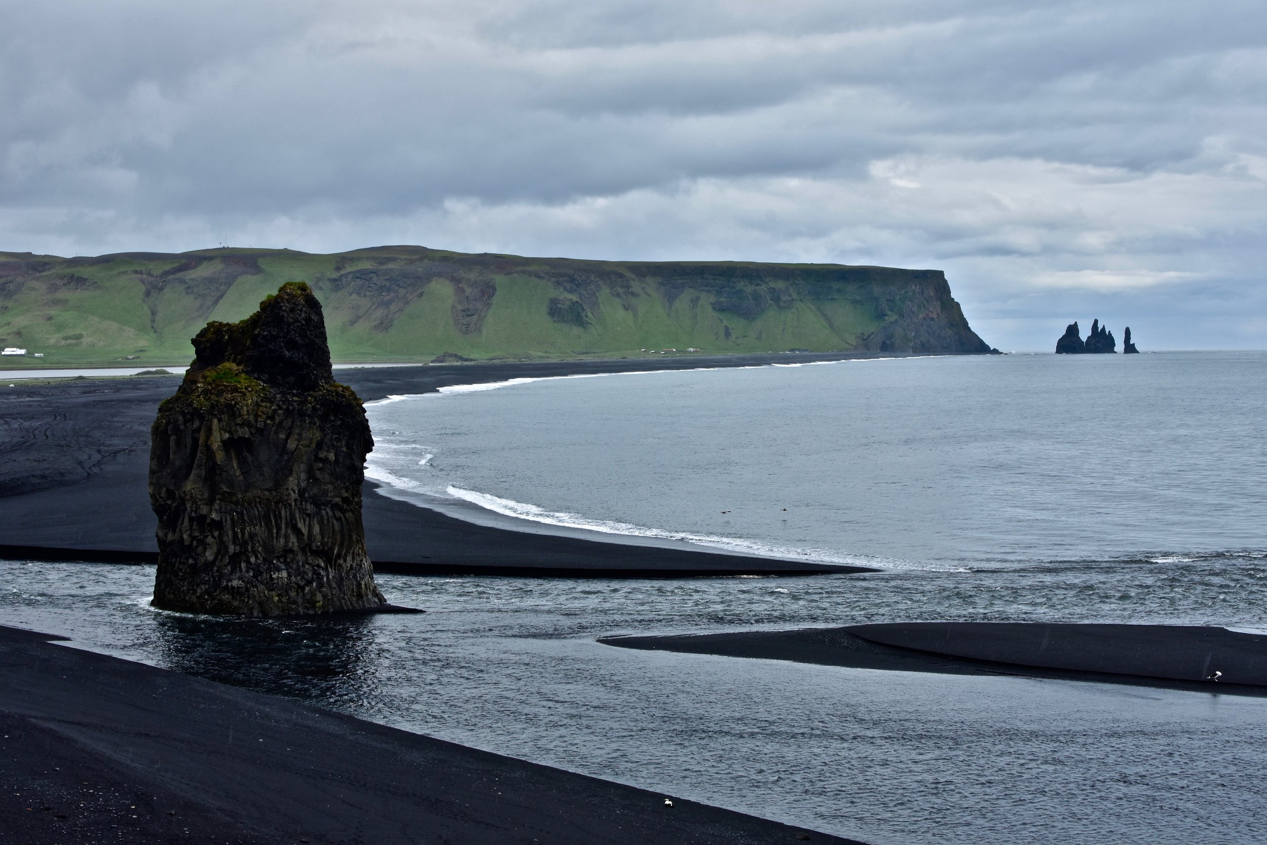 View of Reynisfjara from Dyrhólaey