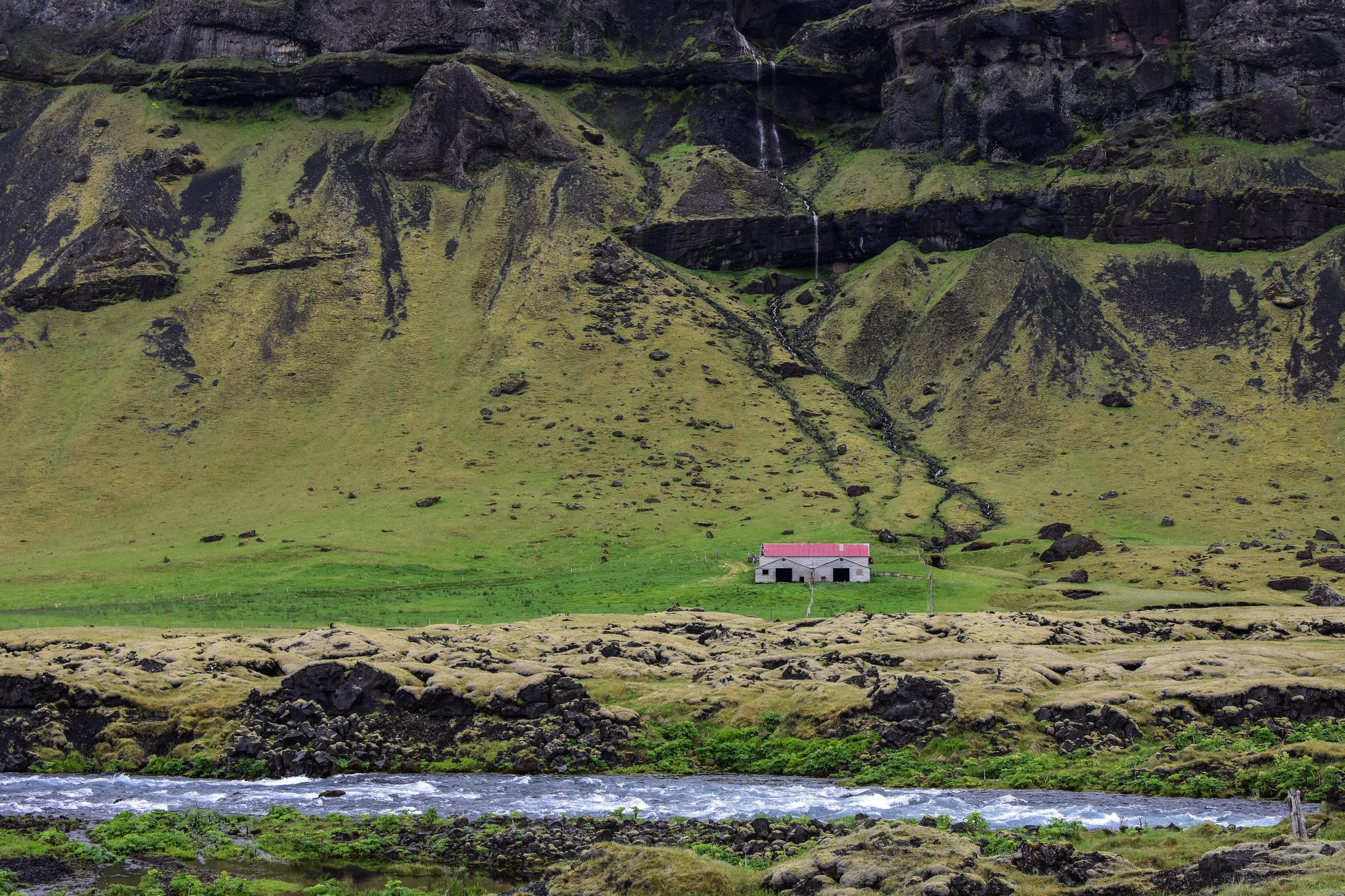 Small Farm House on the South Coast of Iceland