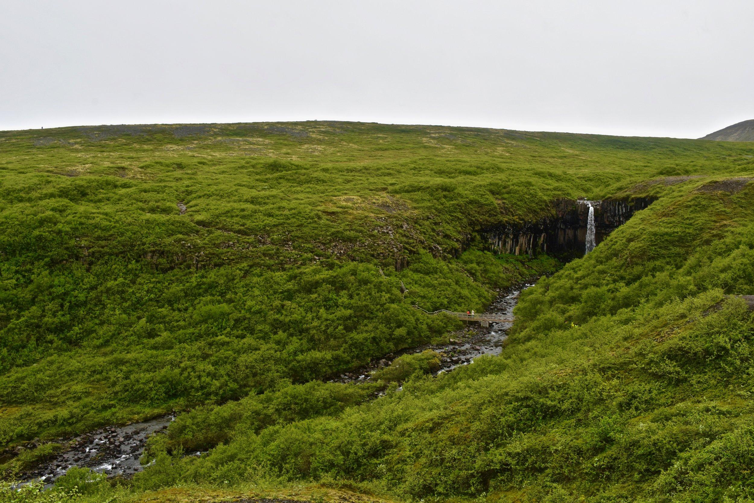 Svatifoss Waterfall in Skaftafell National Park