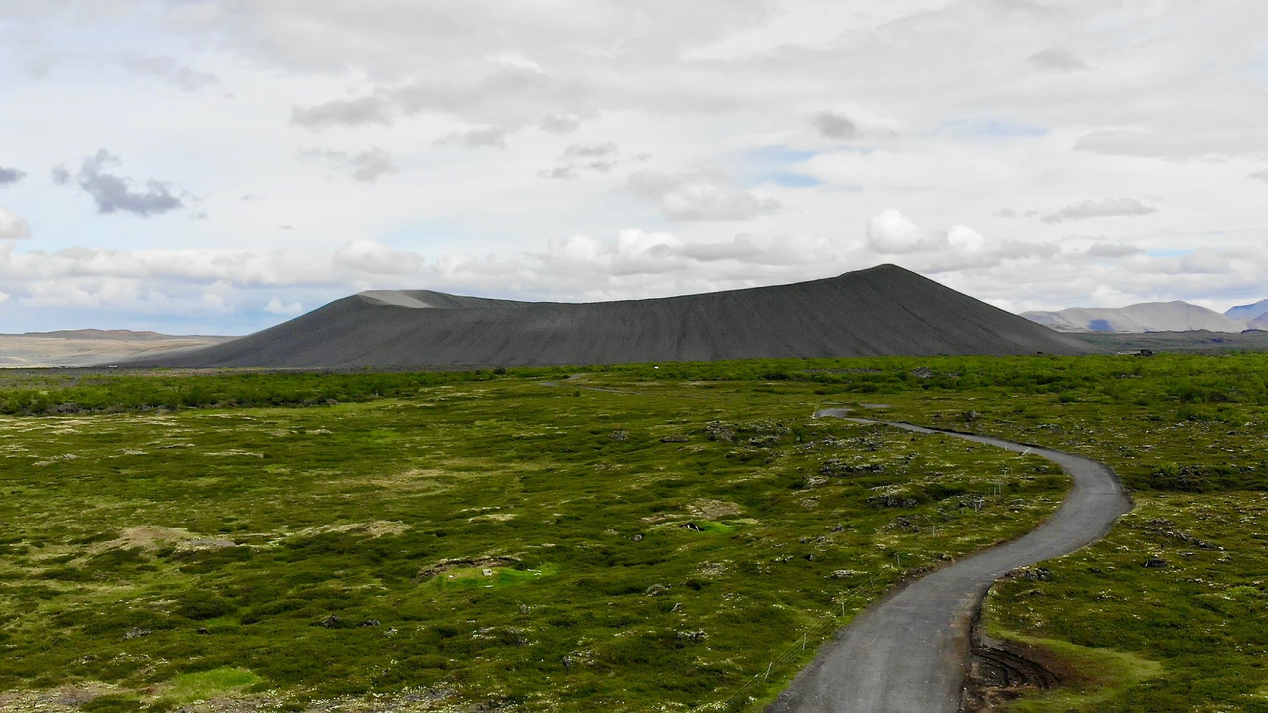 Hverfjall volcanic crater
