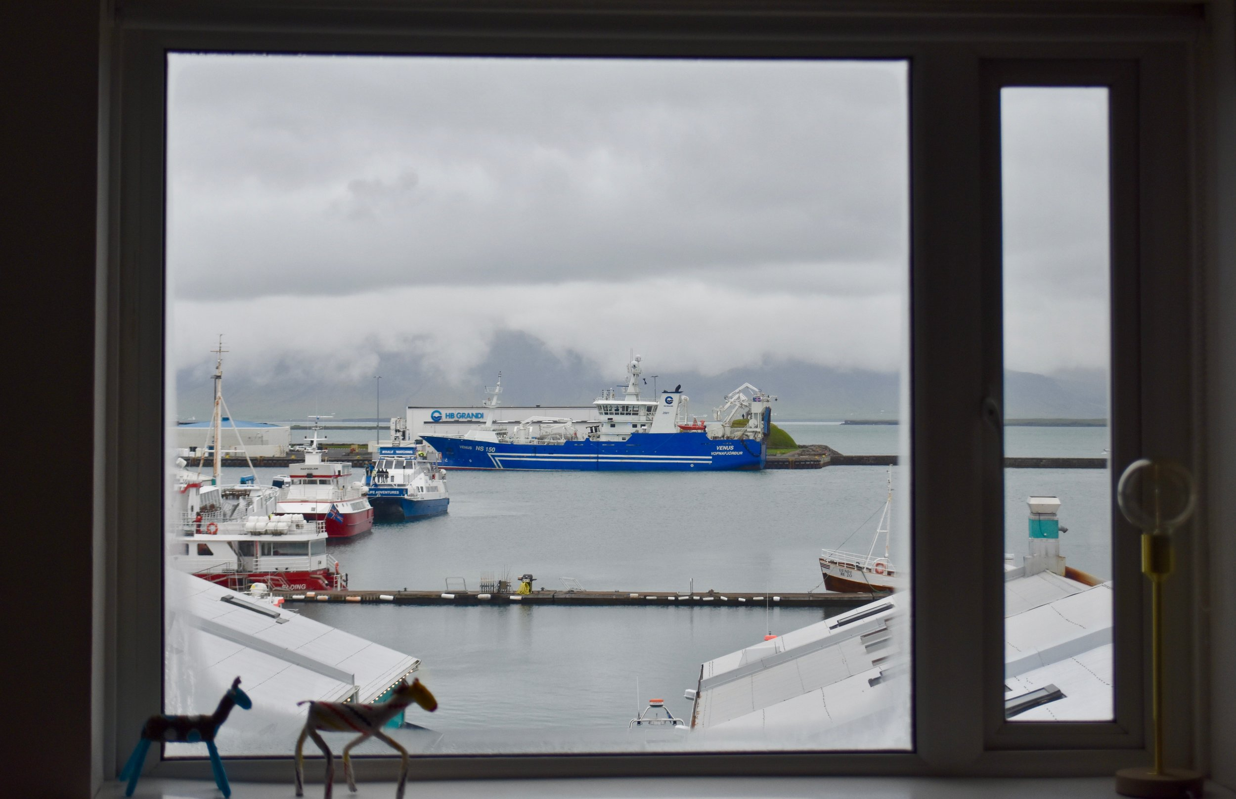 View out Reykjavík Marina Studio Apartment