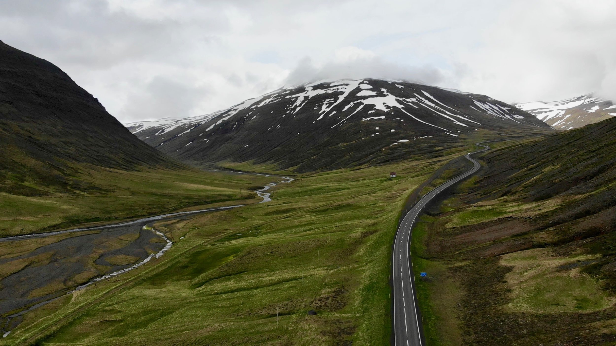 Drone photo of North Iceland Drive to Snæfellsnes Peninsula