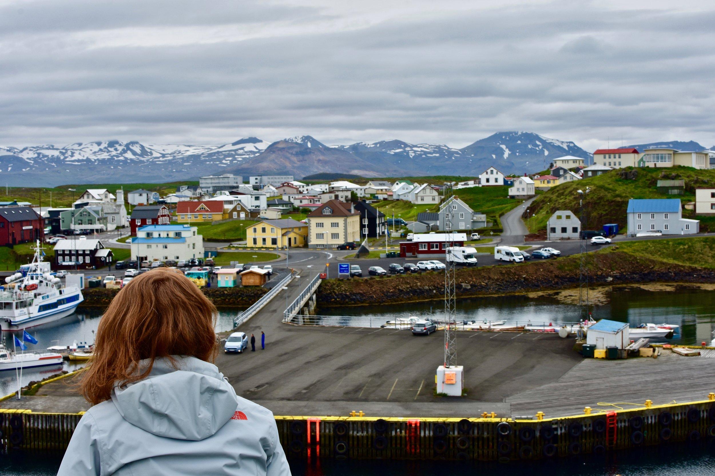 Overlooking Stykkishólmur, Iceland on Snæfellsnes Peninsula