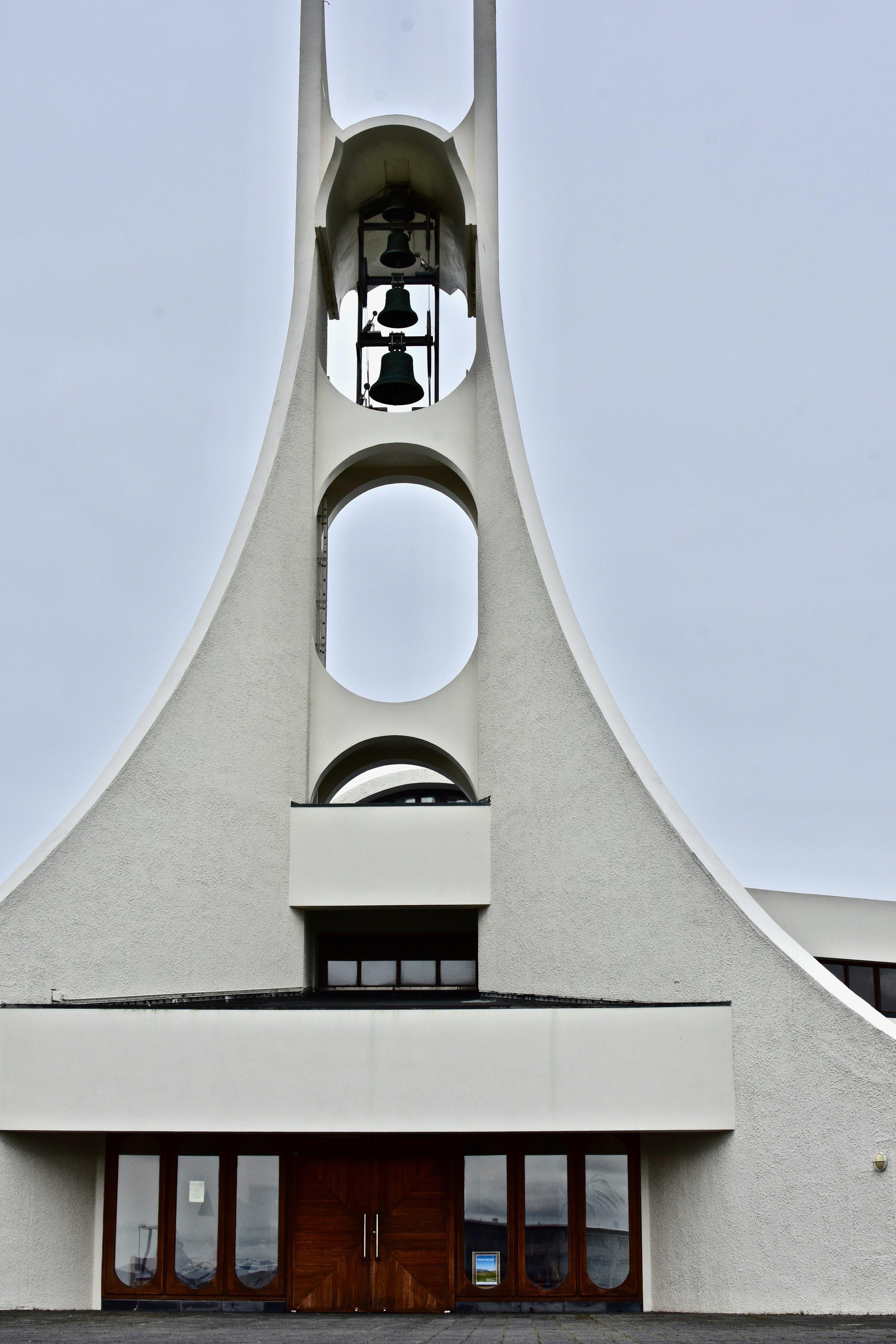 Stykkishólmskirkja in Stykkishólmur, Iceland