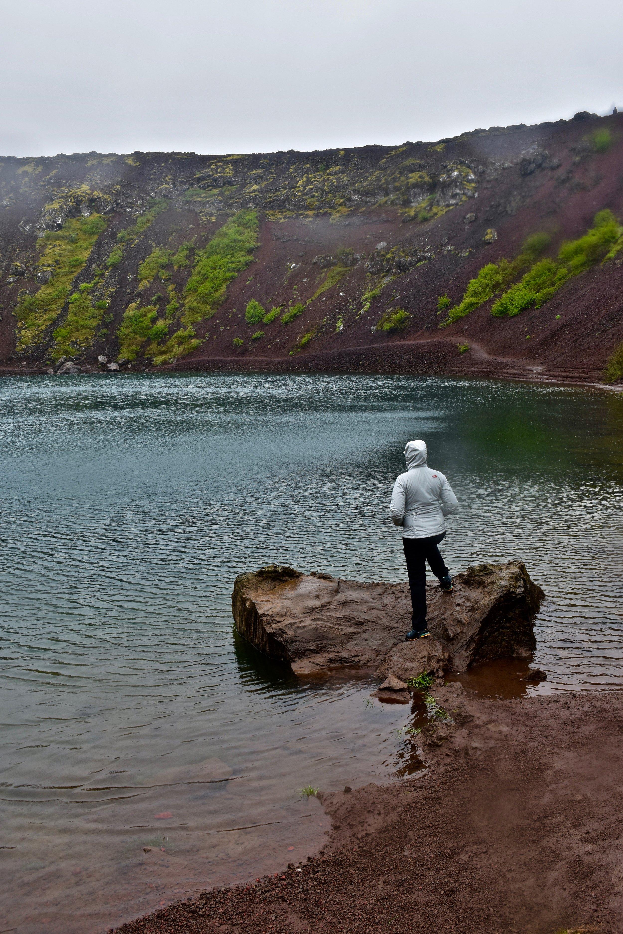 Kerid Crater on Iceland's Golden Circle near Reykjavik
