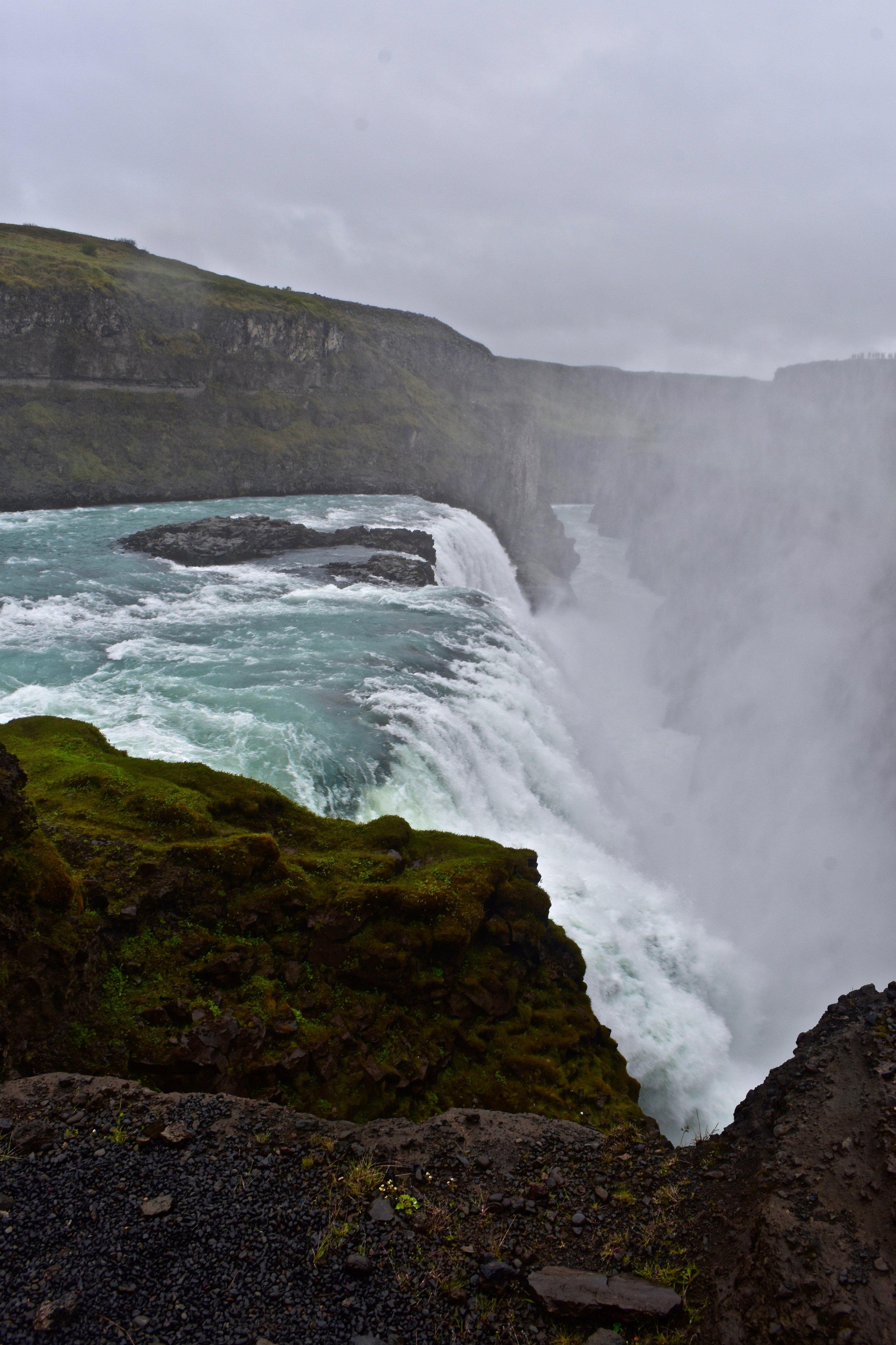 Gullfoss Waterfall on Iceland's Golden Circle near Reykjavik