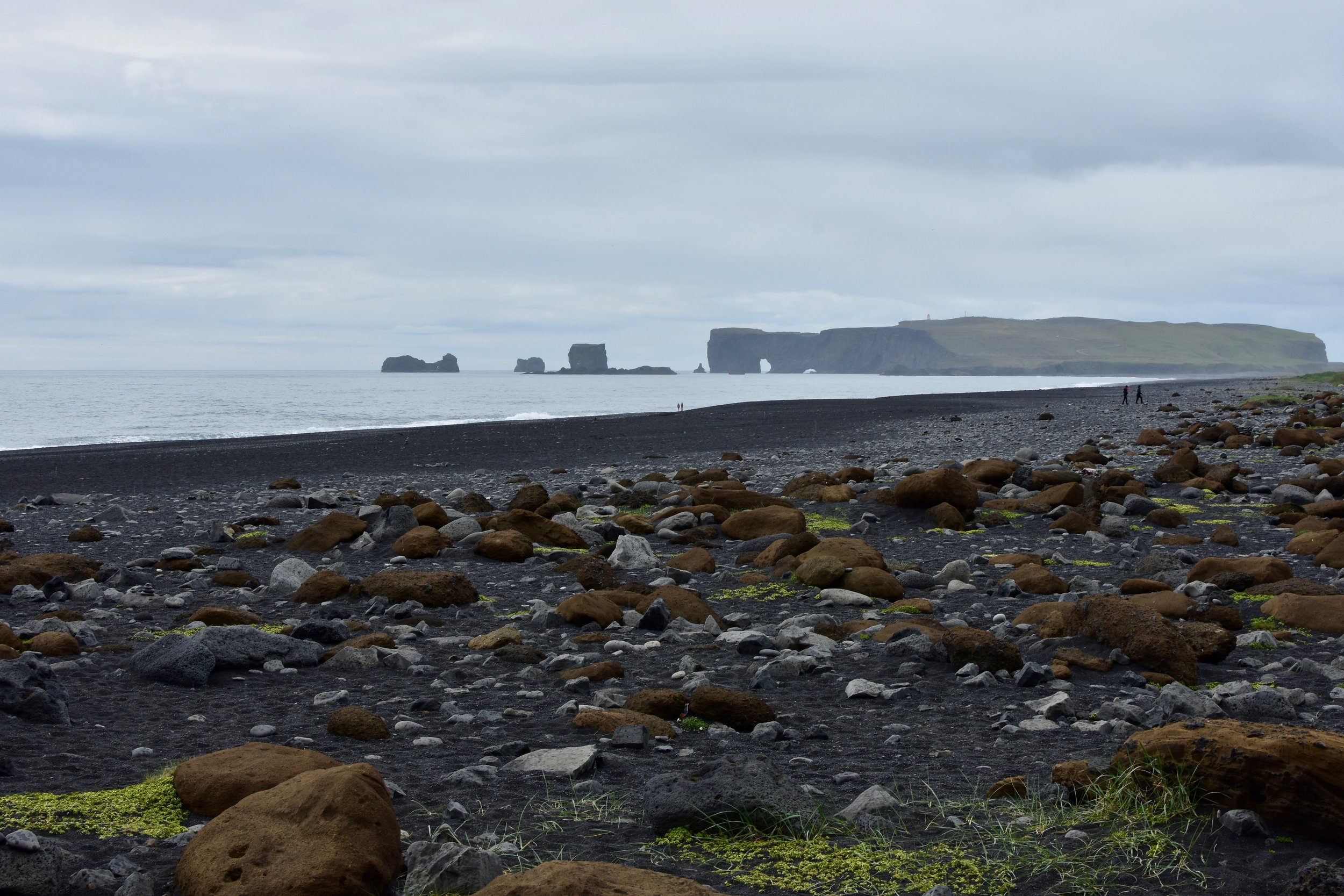 View of Dyrhólaey from Reynisfjara Beach