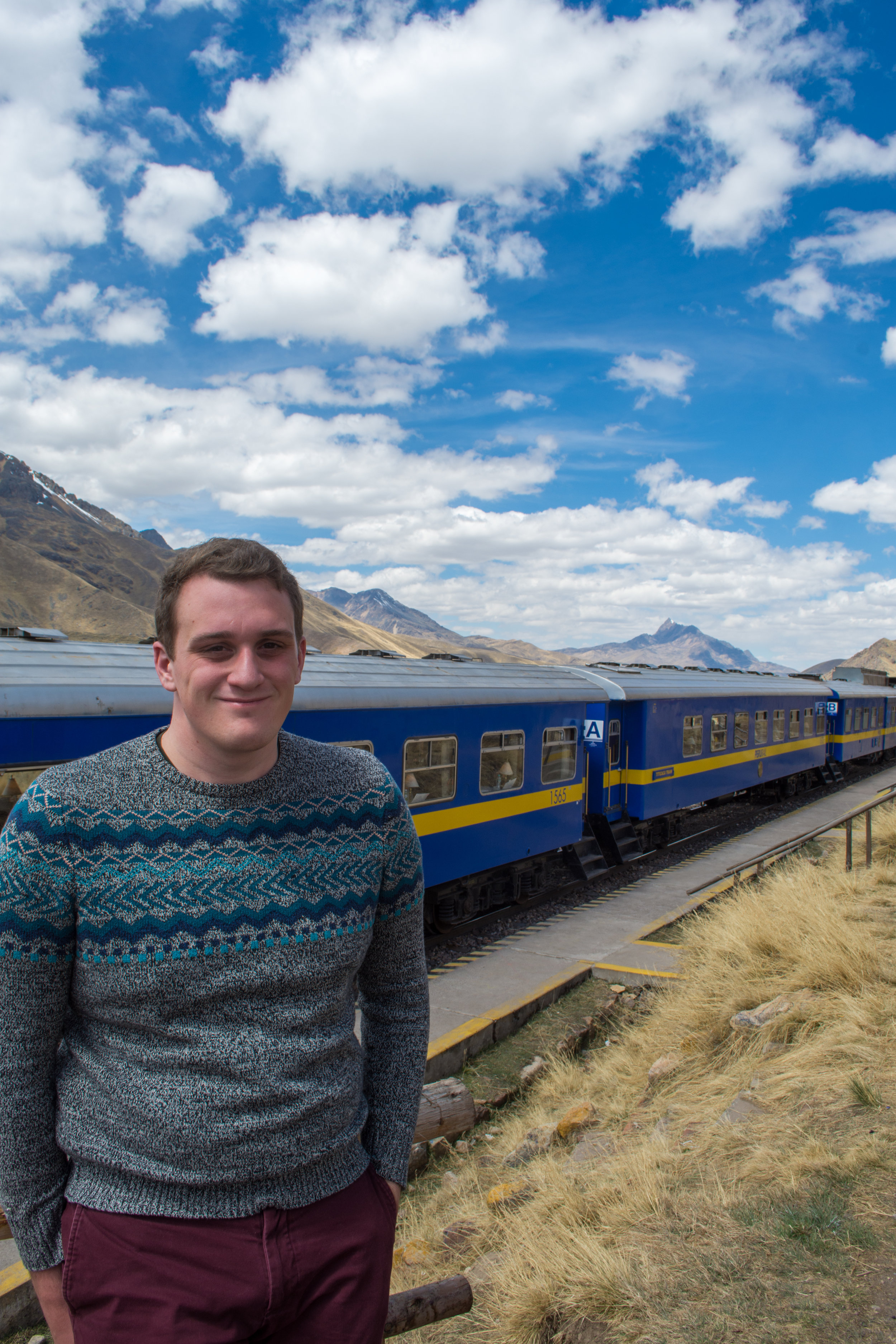 Train through the Andes Mountains