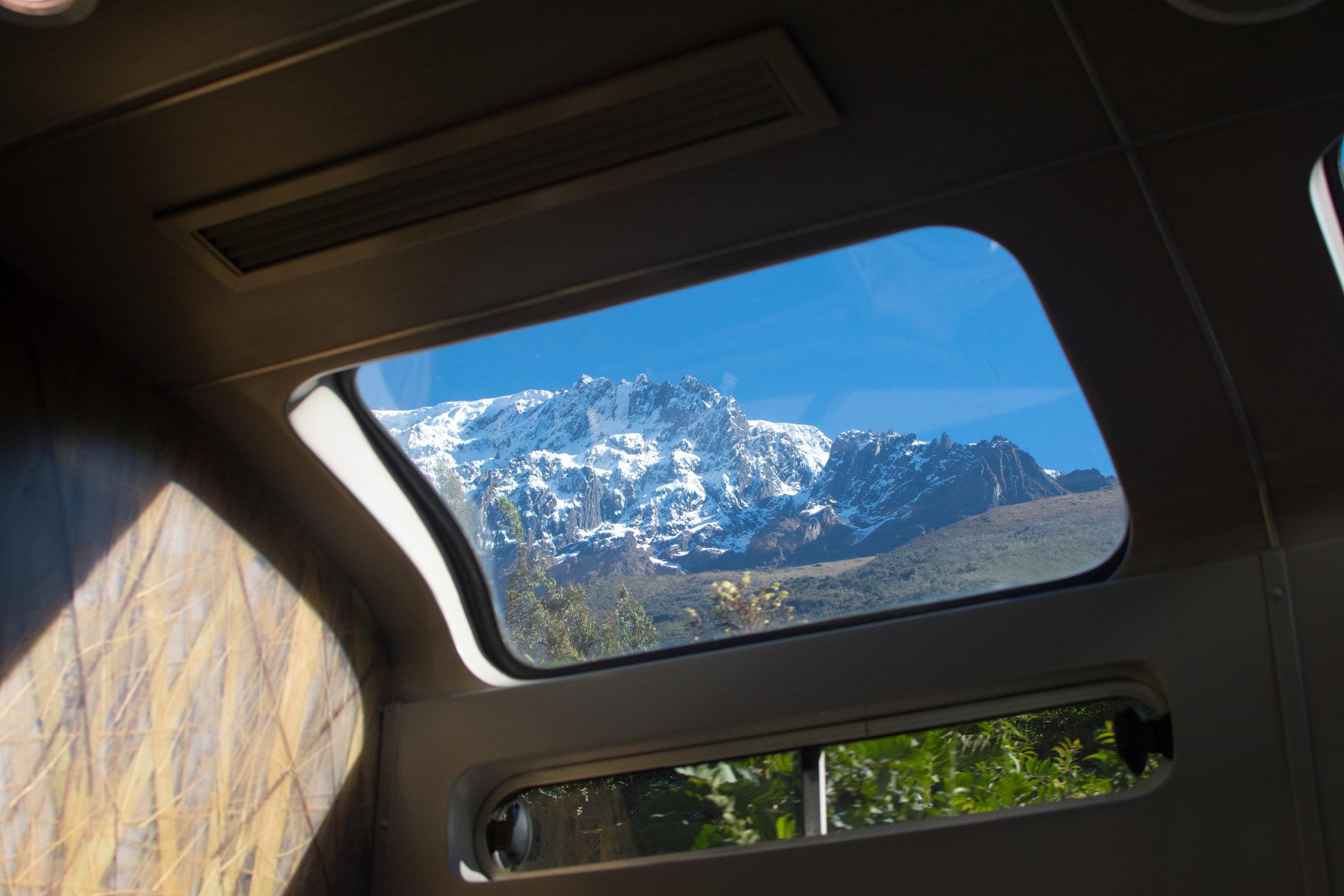 Mountain View from Vistadome Perurail Train