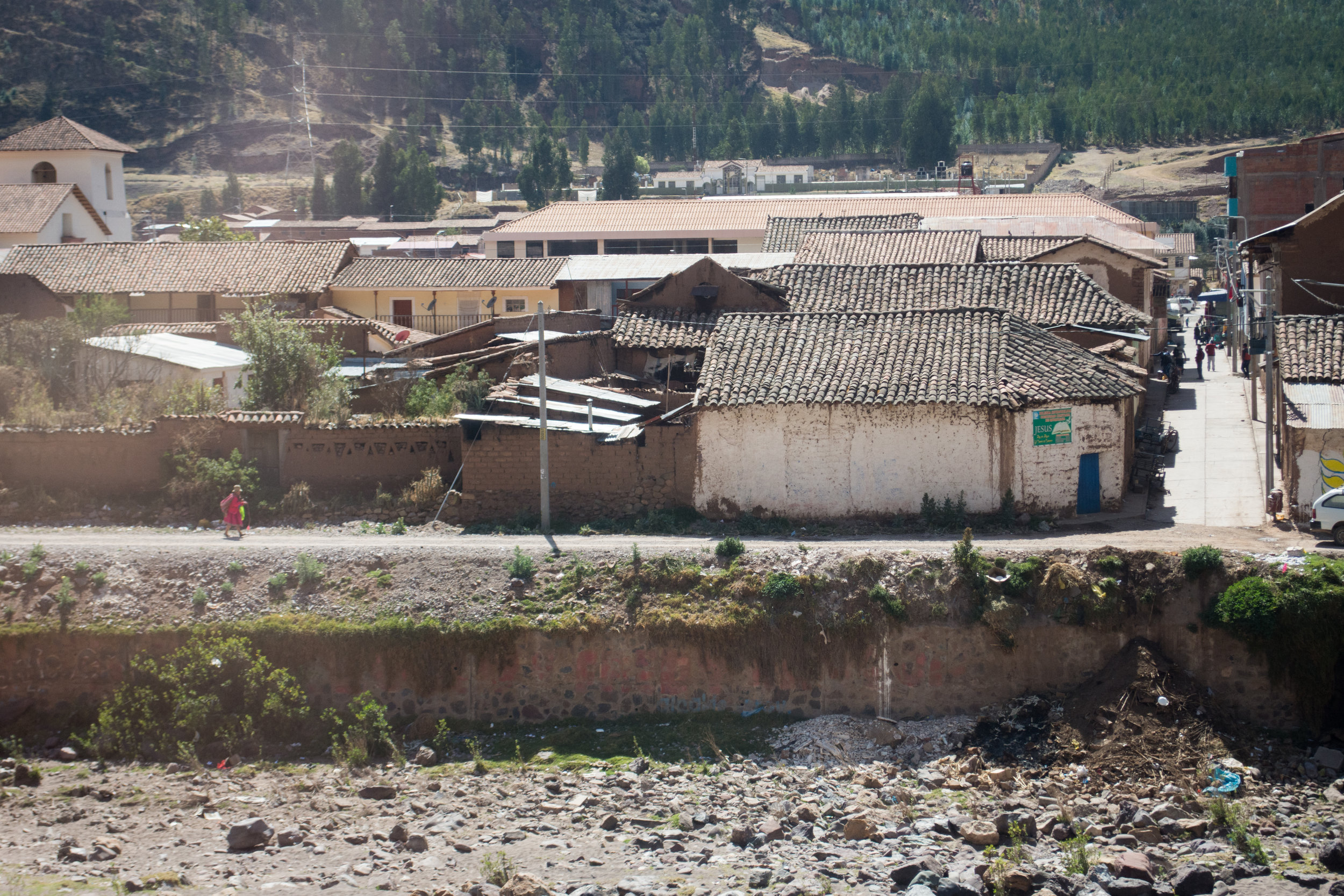 Village in Andean Mountains on Luxury Perurail Lake Titicaca Train