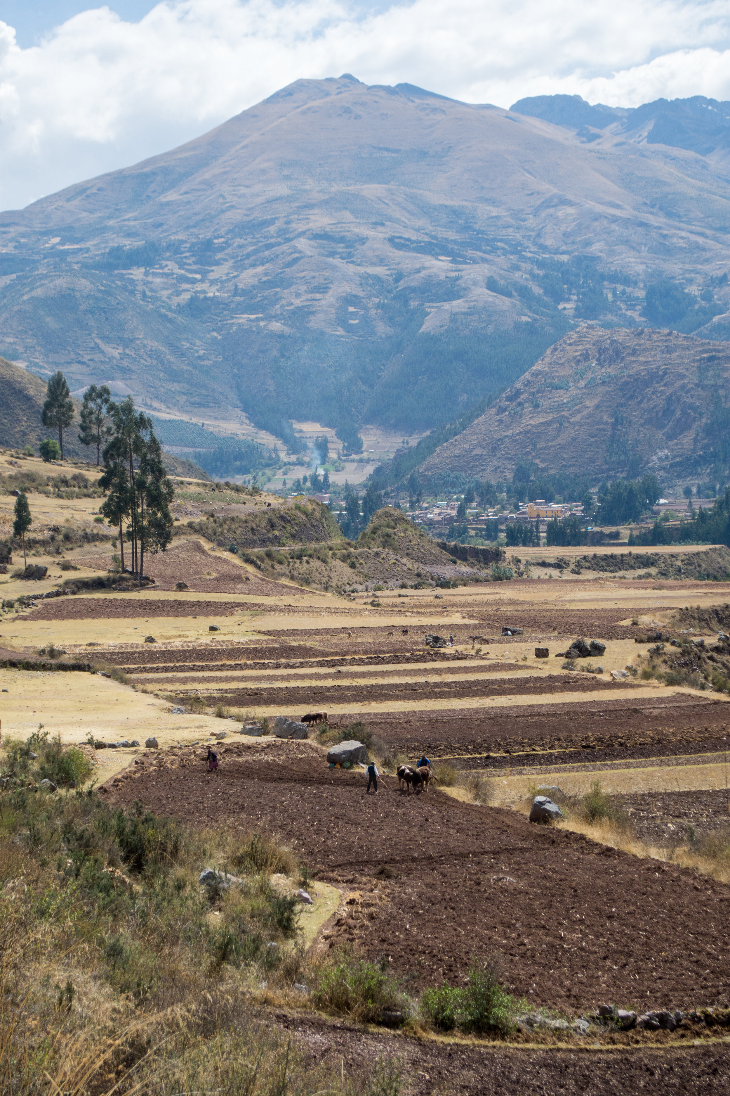 Farmers in Andean Mountains on Luxury Perurail Lake Titicaca Train