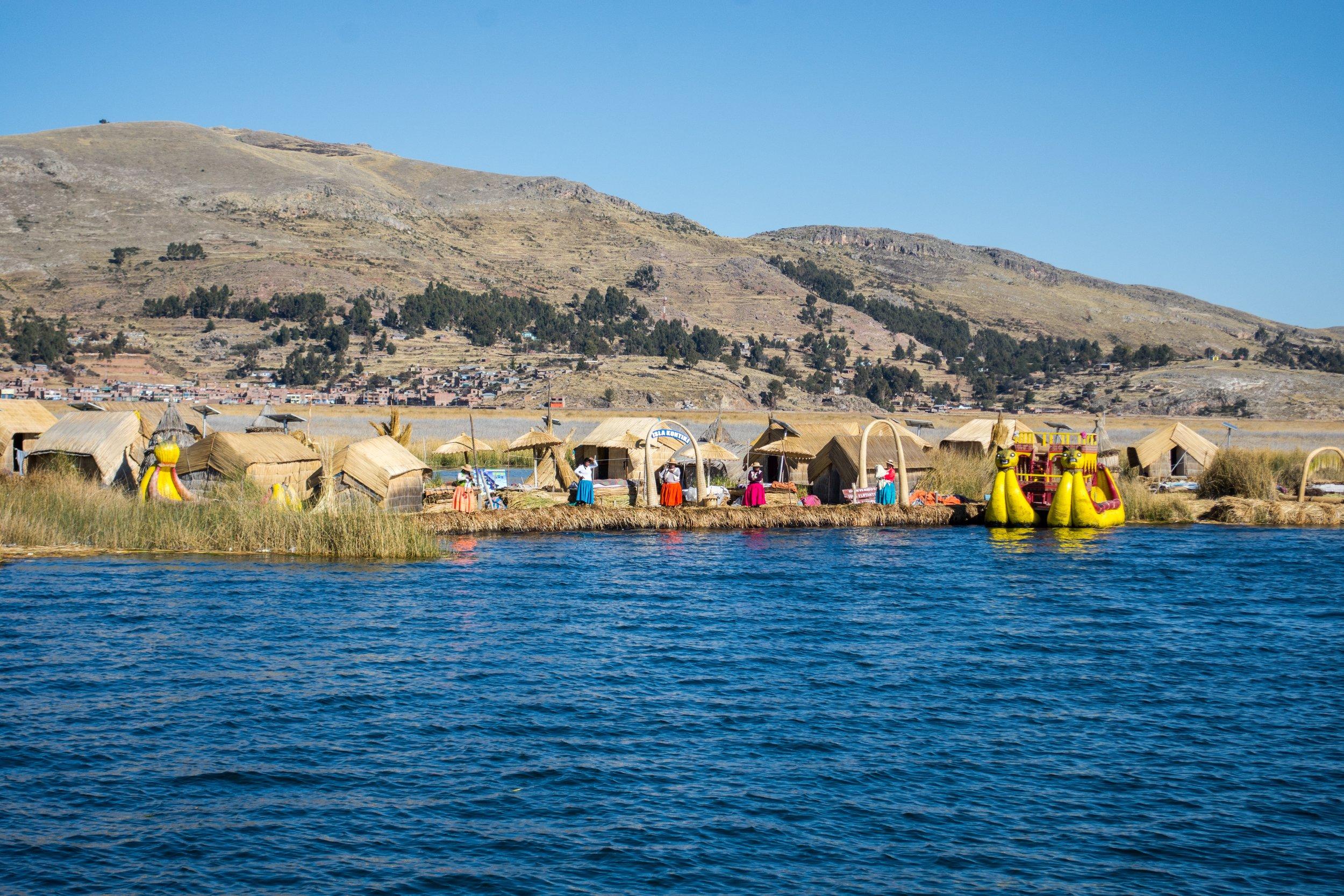 Uros Island in Lake Titicaca