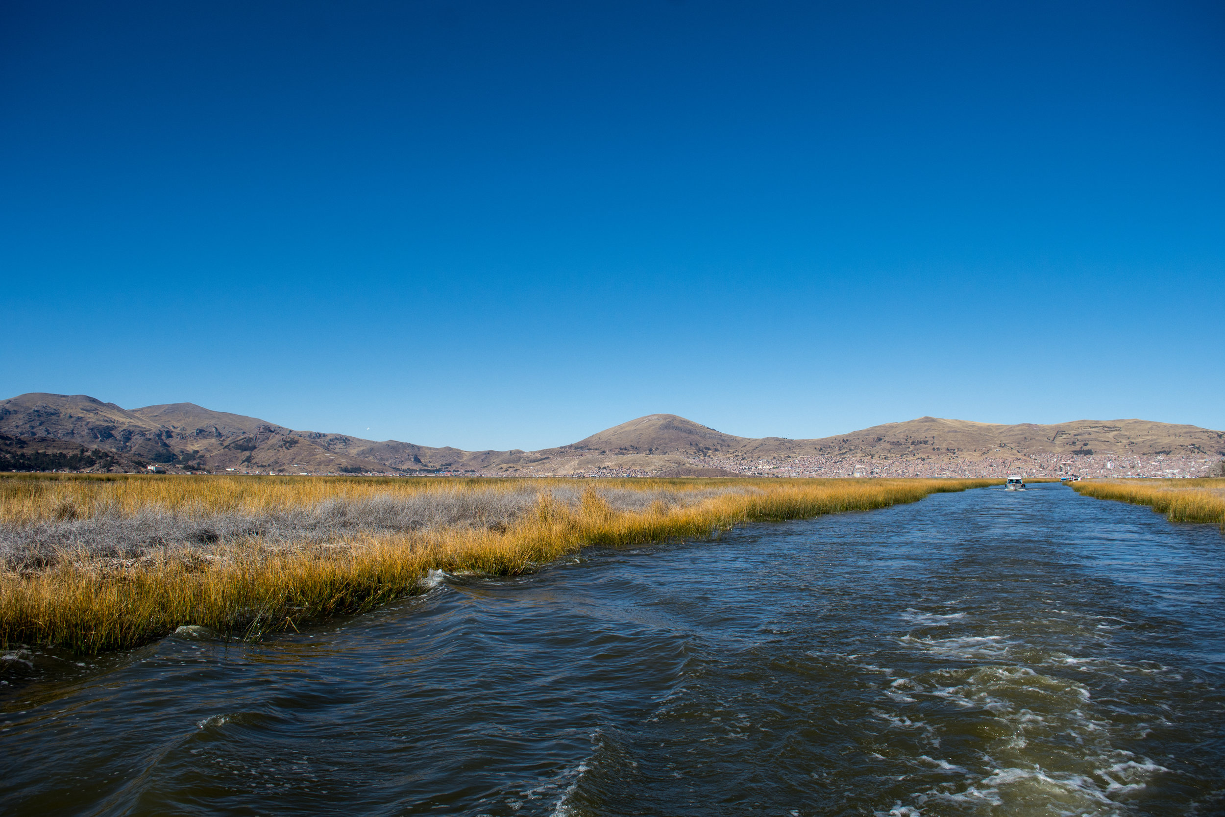 Puno from Lake Titicaca