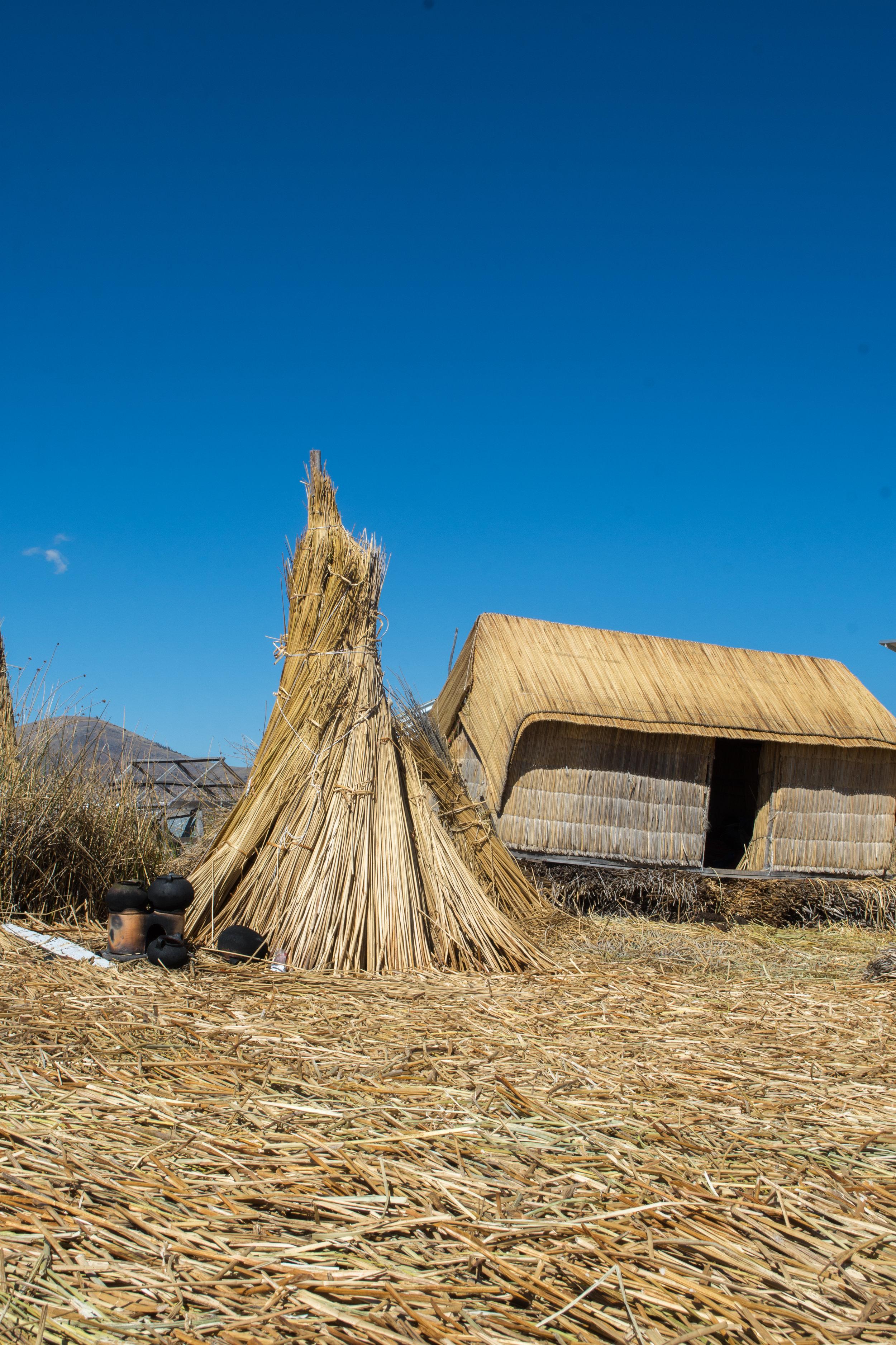 Traditional Uros Home