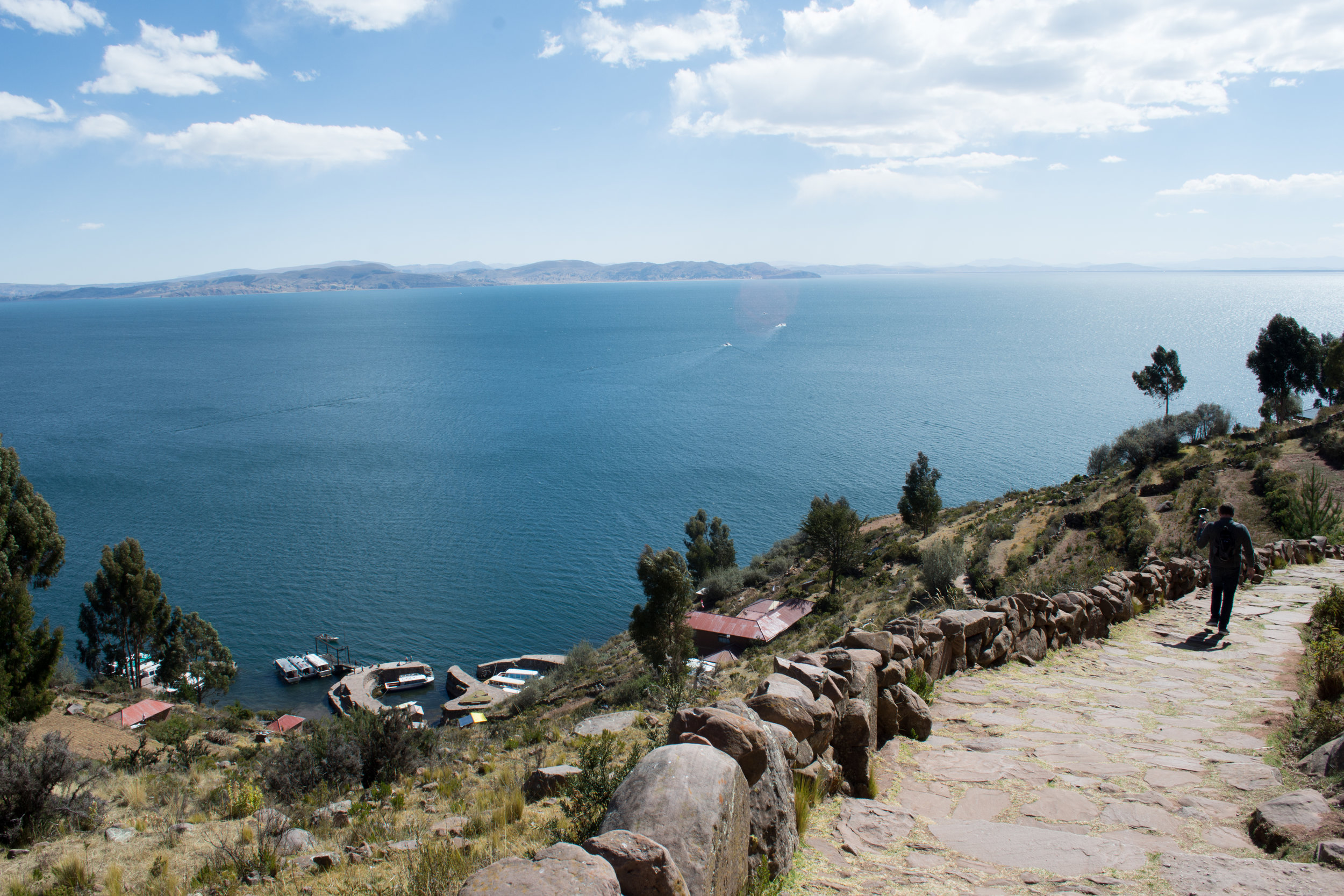 Walking down from Taquile Island