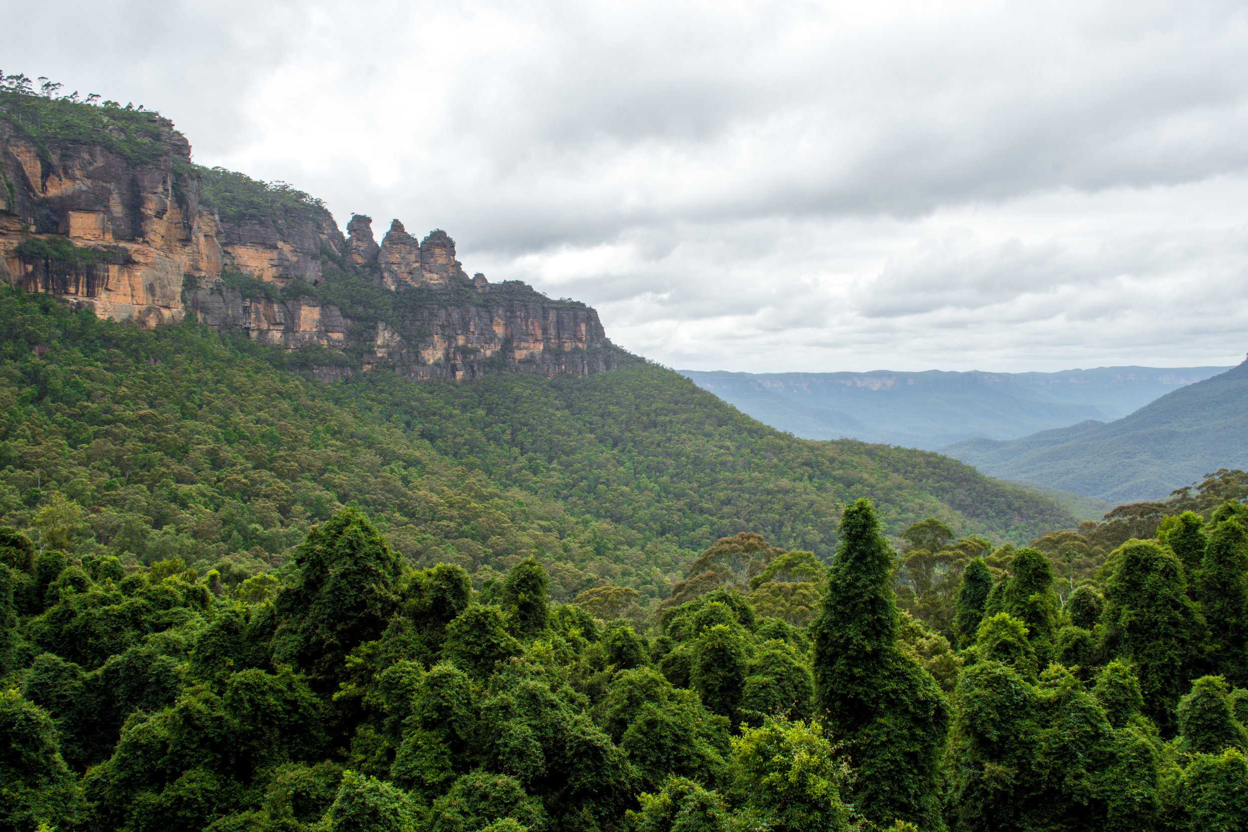 View of the Three Sisters from the Scenic Railway